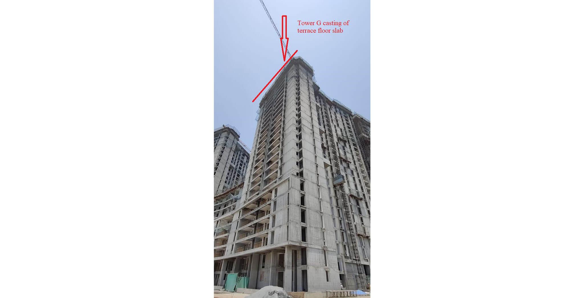 Apr 2021 - Serene: Tower G—On casting of terrace floor slab