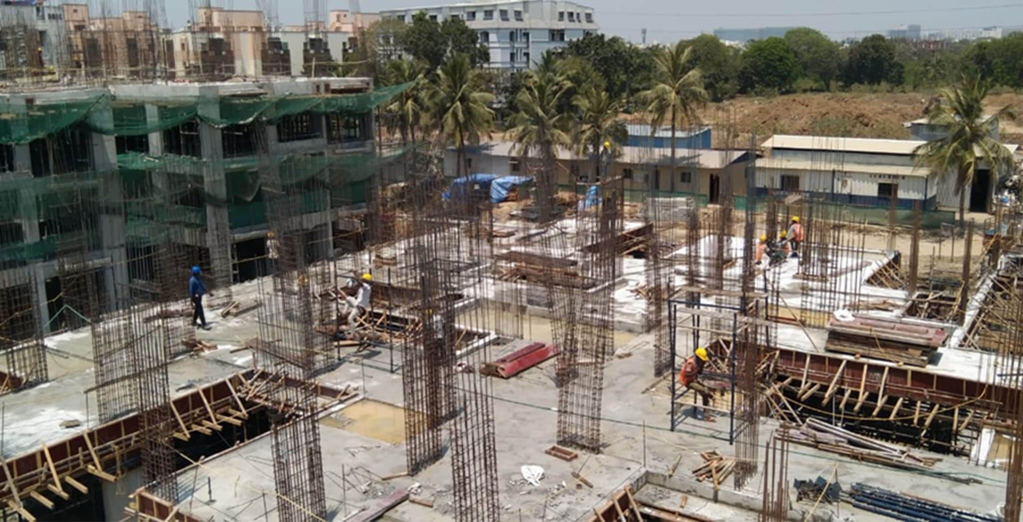 Mar 2021 - Block J: Excavation and oundational works completed; Ground floor slab completed; First floor slab work-in-progress