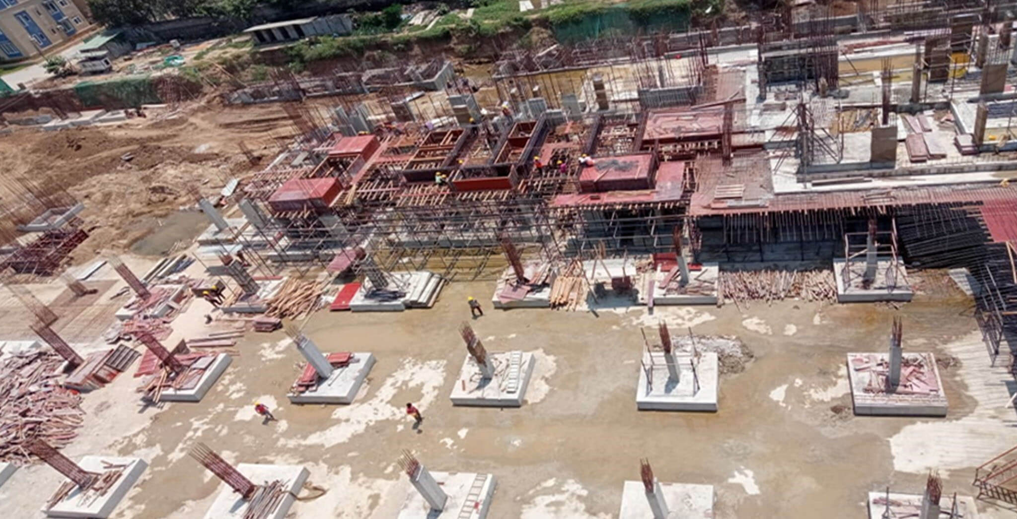 Mar 2021 - Block G: Excavation and foundational works completed; Ground floor slab work-in-progress