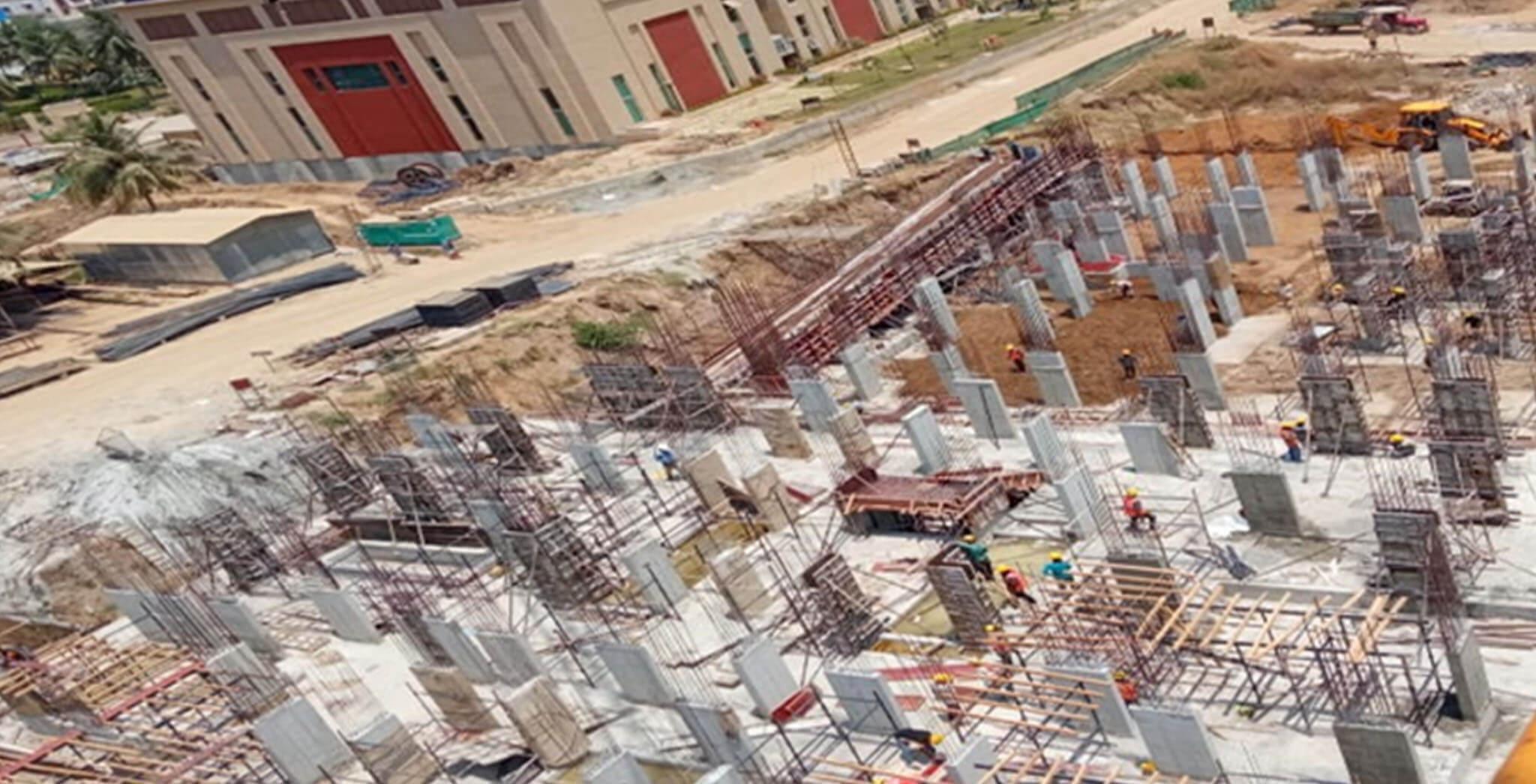Mar 2021 - Block K: Excavation completed; Foundational work-in-progress