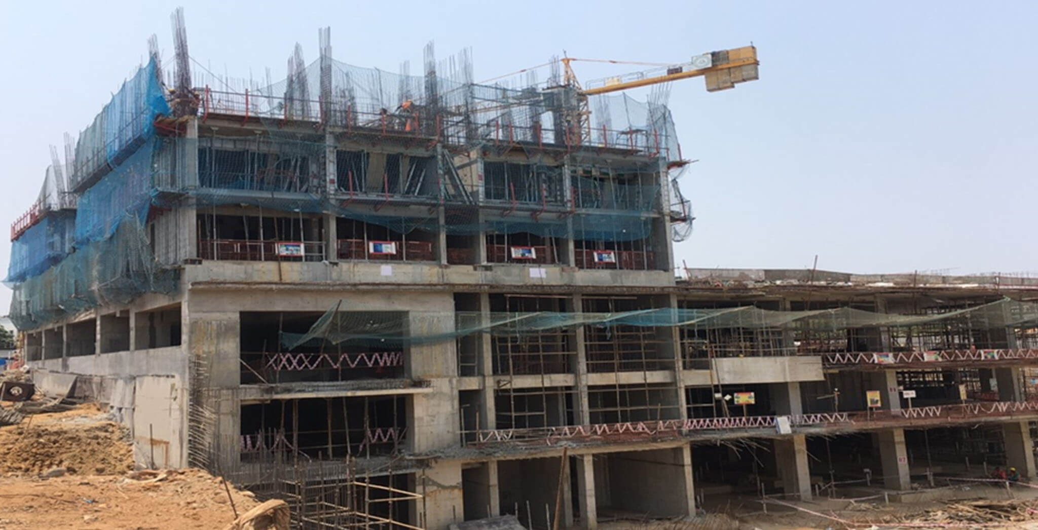 Mar 2021 - Tower A1: Third floor level slab work-in-progress
