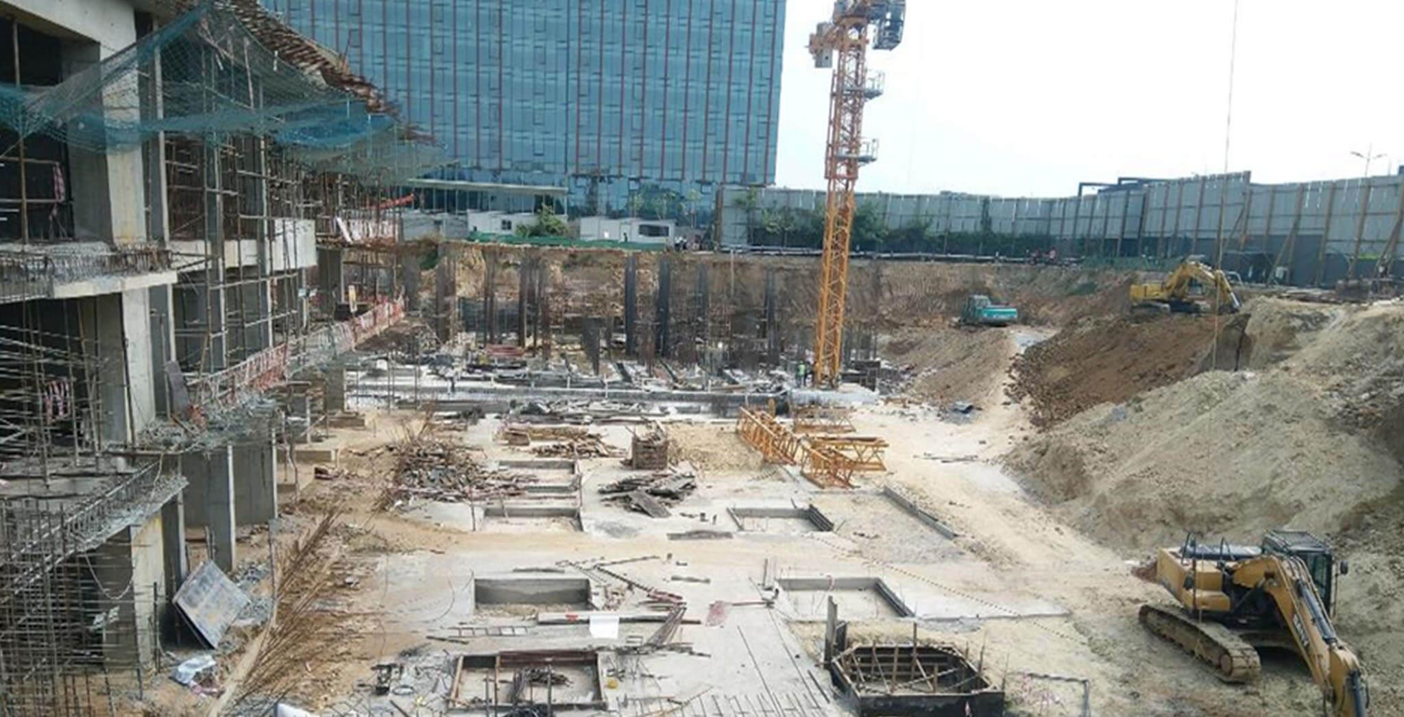 Mar 2021 - Non Tower: Earthwork excavation is in progress
