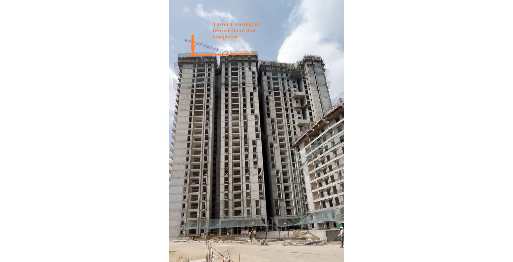 Apr 2021 - Serene F – On Casting of Terrace Floor Slab - Status as of 15th April 2020