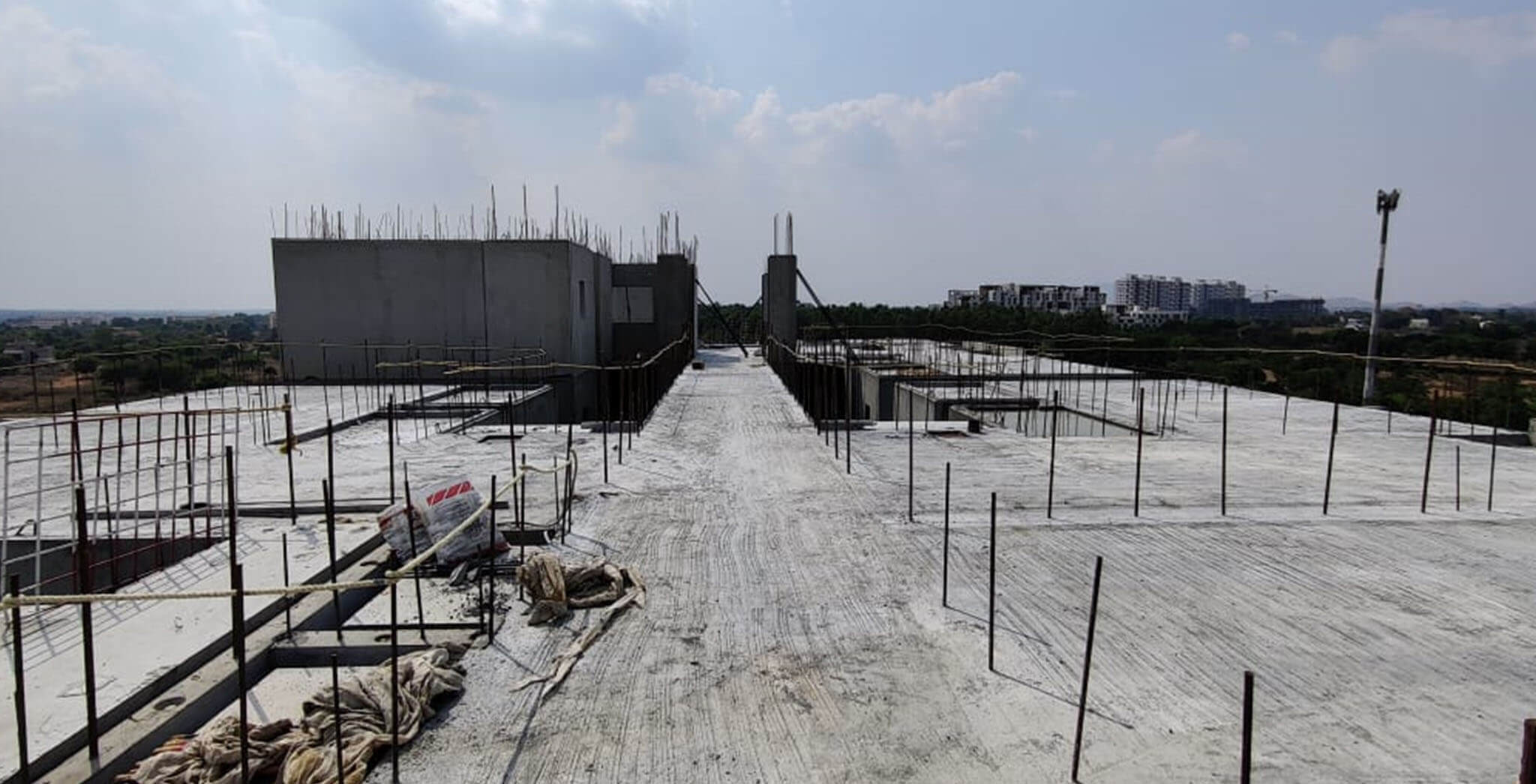Apr 2021 - C wing: On commencement of seventh floor slab
