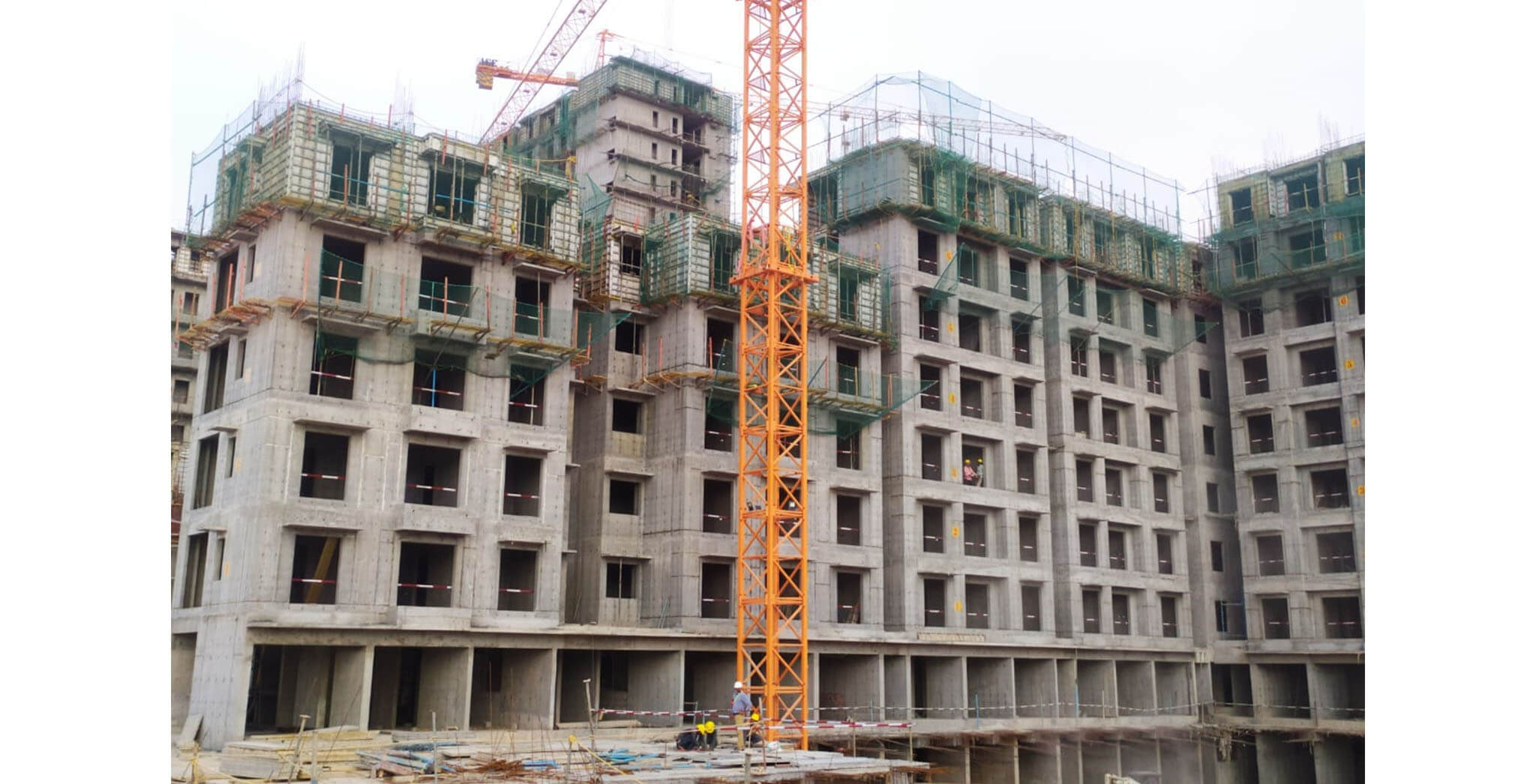Apr 2021 - Helio: Wing A—on commencement of fifth floor slab