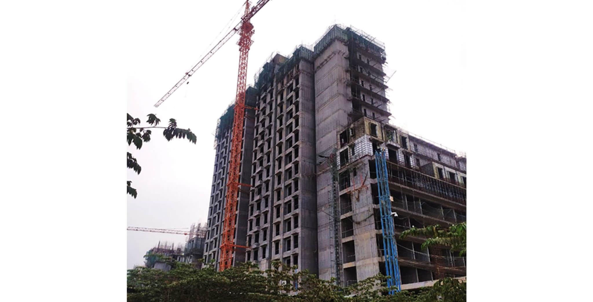 Apr 2021 - Gallium Block: South side elevation—Ground floor to 18th floor