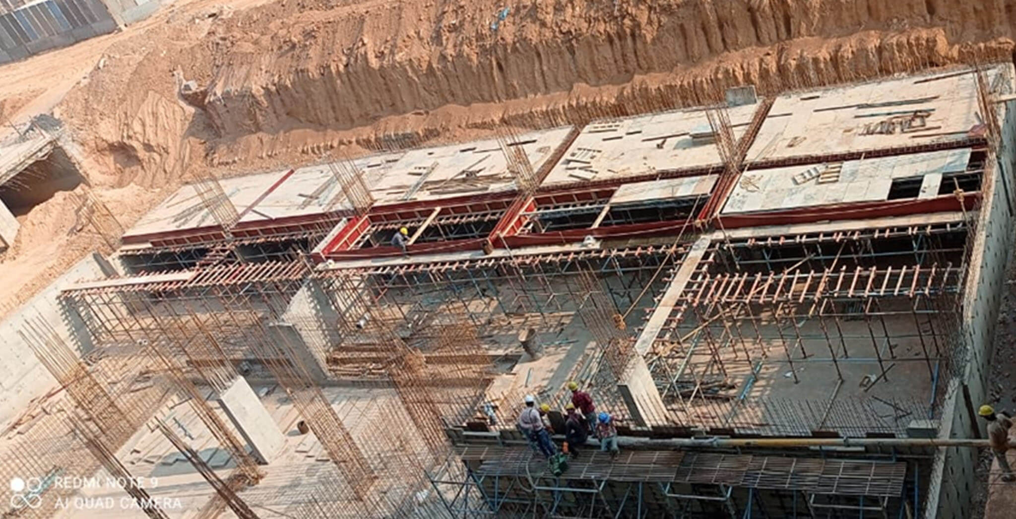 Apr 2021 - Gallium Block: UG sump wall and slab work-in-progress