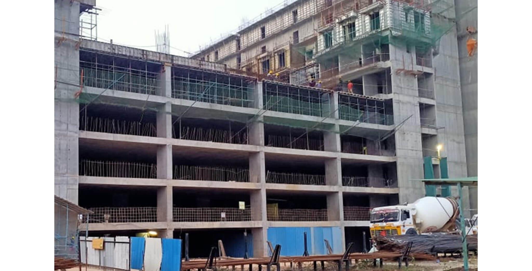 Apr 2021 - Gallium Block: MLCP 01 towards H—4th floor slab work-in-progress