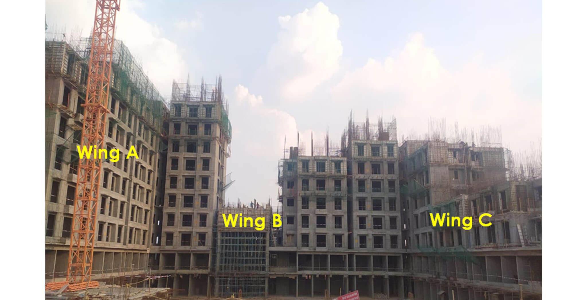 Apr 2021 - Helio Block: North elevation—Overall progress