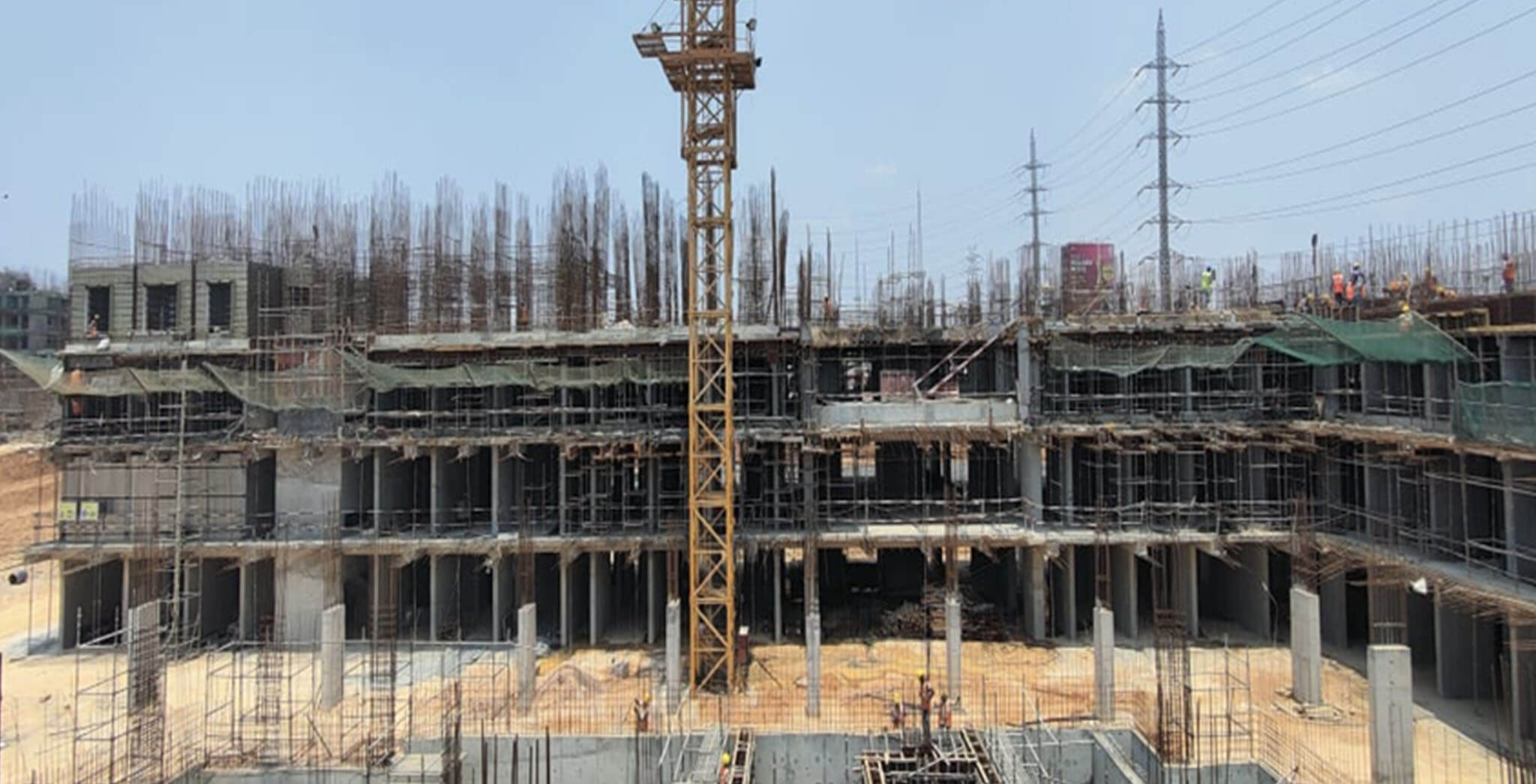 Apr 2021 - Jasper Block: Wing A—Flats 0101, 0102 aluminium shuttering work-in-progress