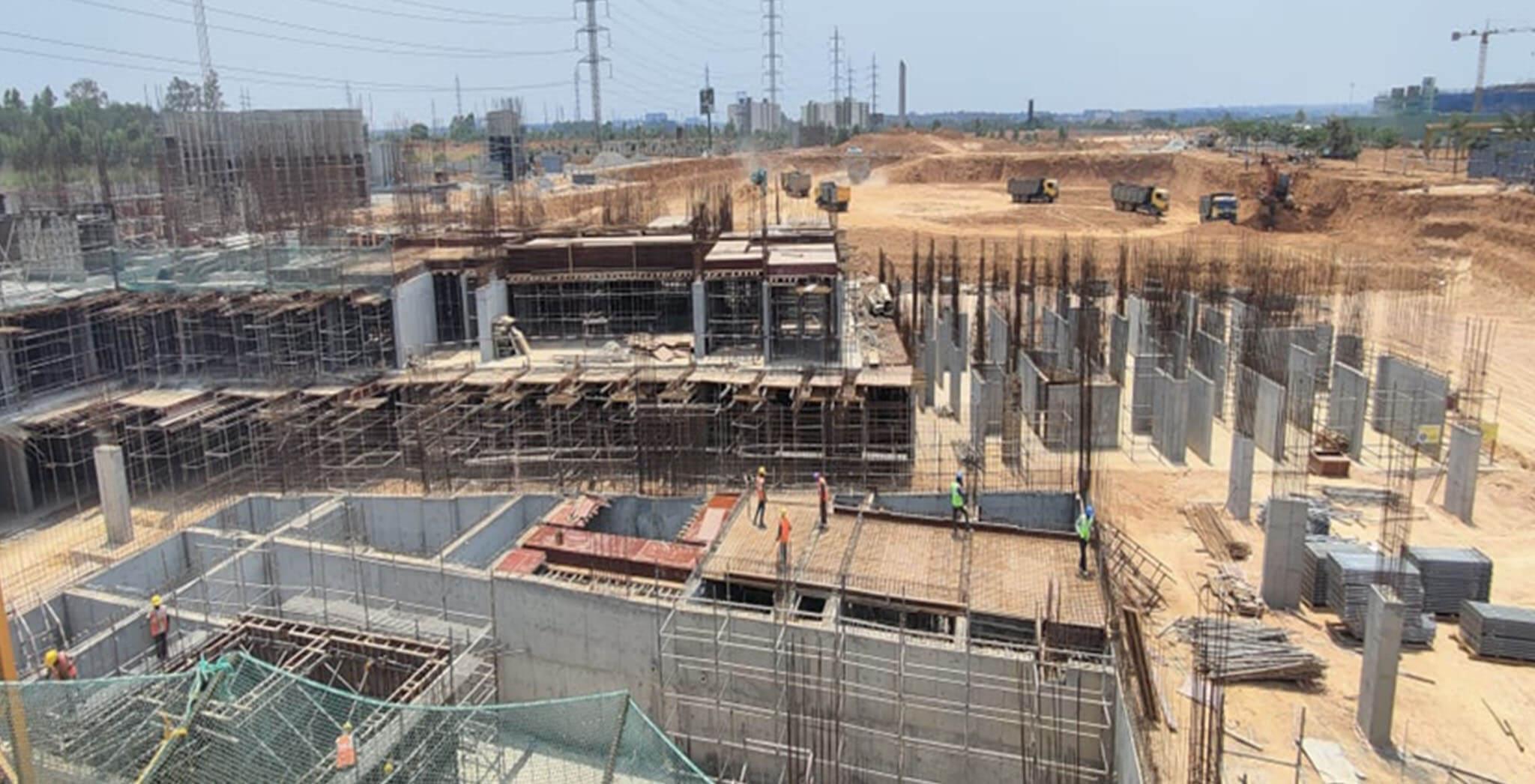 Apr 2021 - Jasper Block: Wing B—Lower basement roof slab and upper basement roof slab work-in-progress