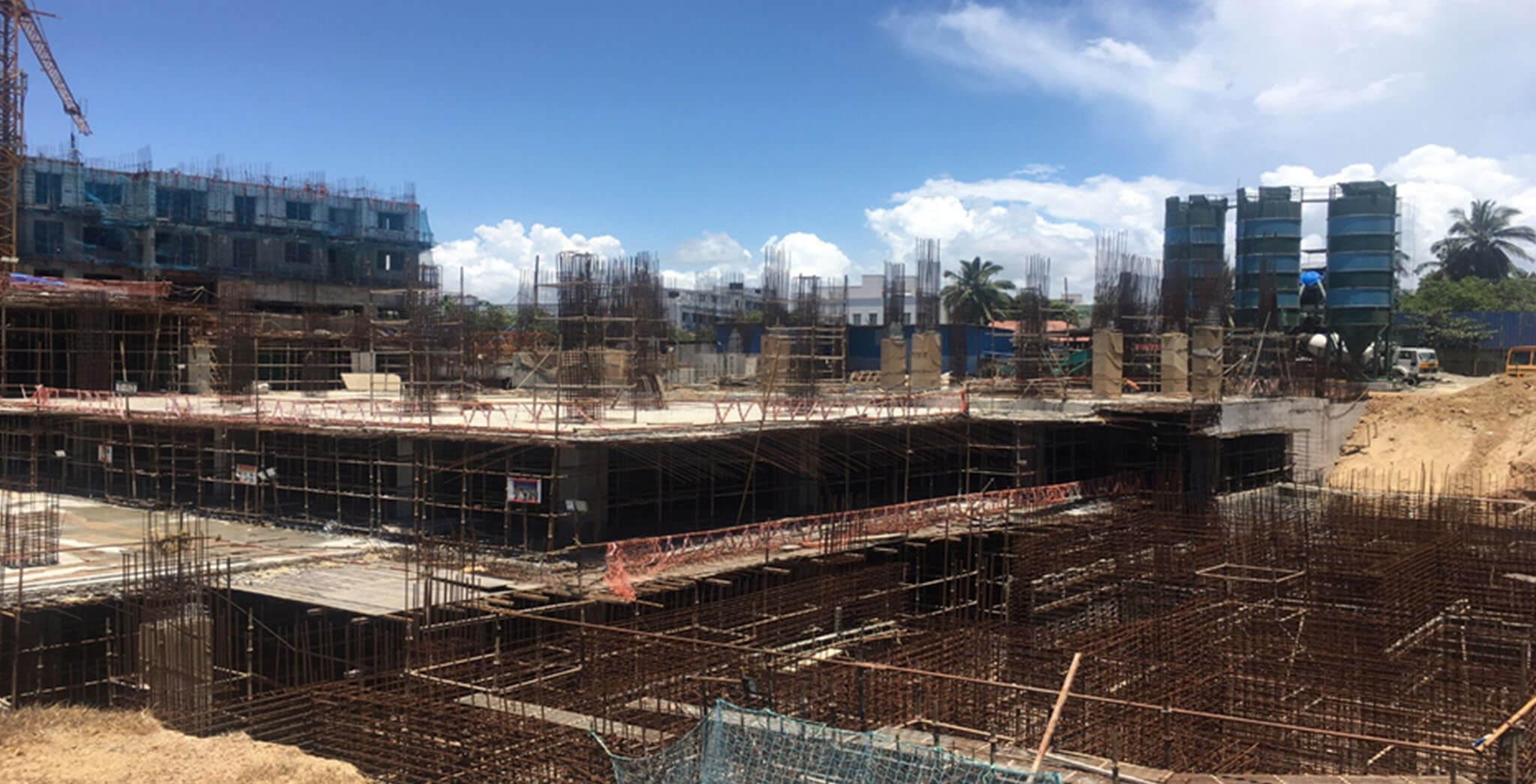 Apr 2021 - Tower A3: Column above ground floor work-in-progress