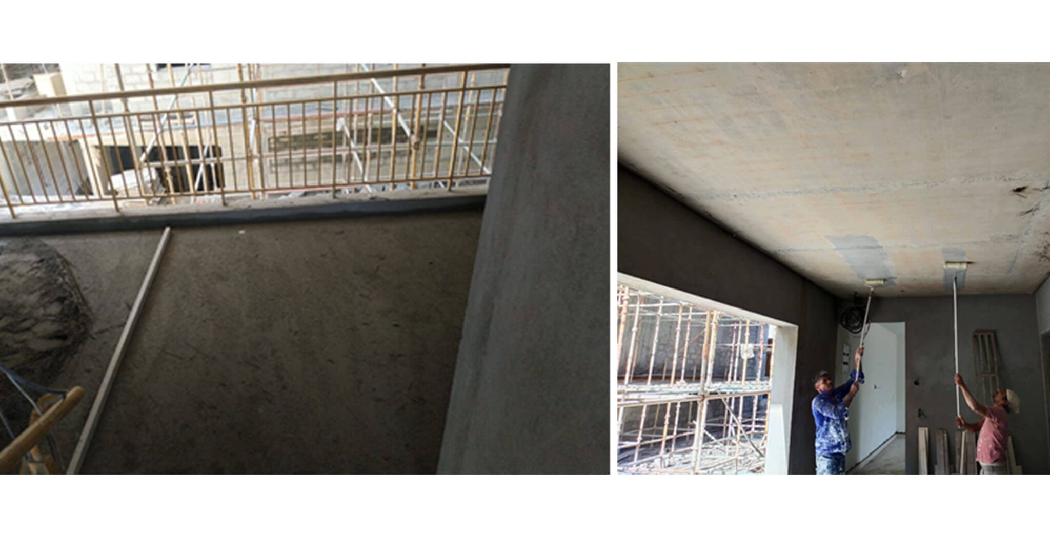 May 2021 - H Block: Lobby flooring and ceiling primer work commenced.