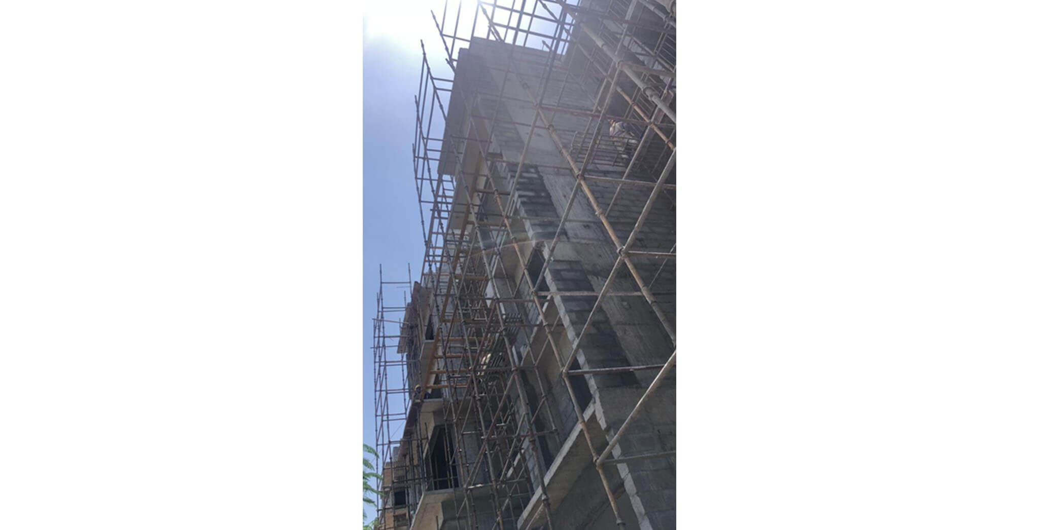 May 2021 - N Block: North elevation external texture, Up to 3rd floor Lobby plastering, Up to 4th floor ledge wall plastering, South elevation pergola works completed; Terrace floor waterproofing membrane, 4th floor internal plastering work-in-progress; Lift erection/installation works commenced.