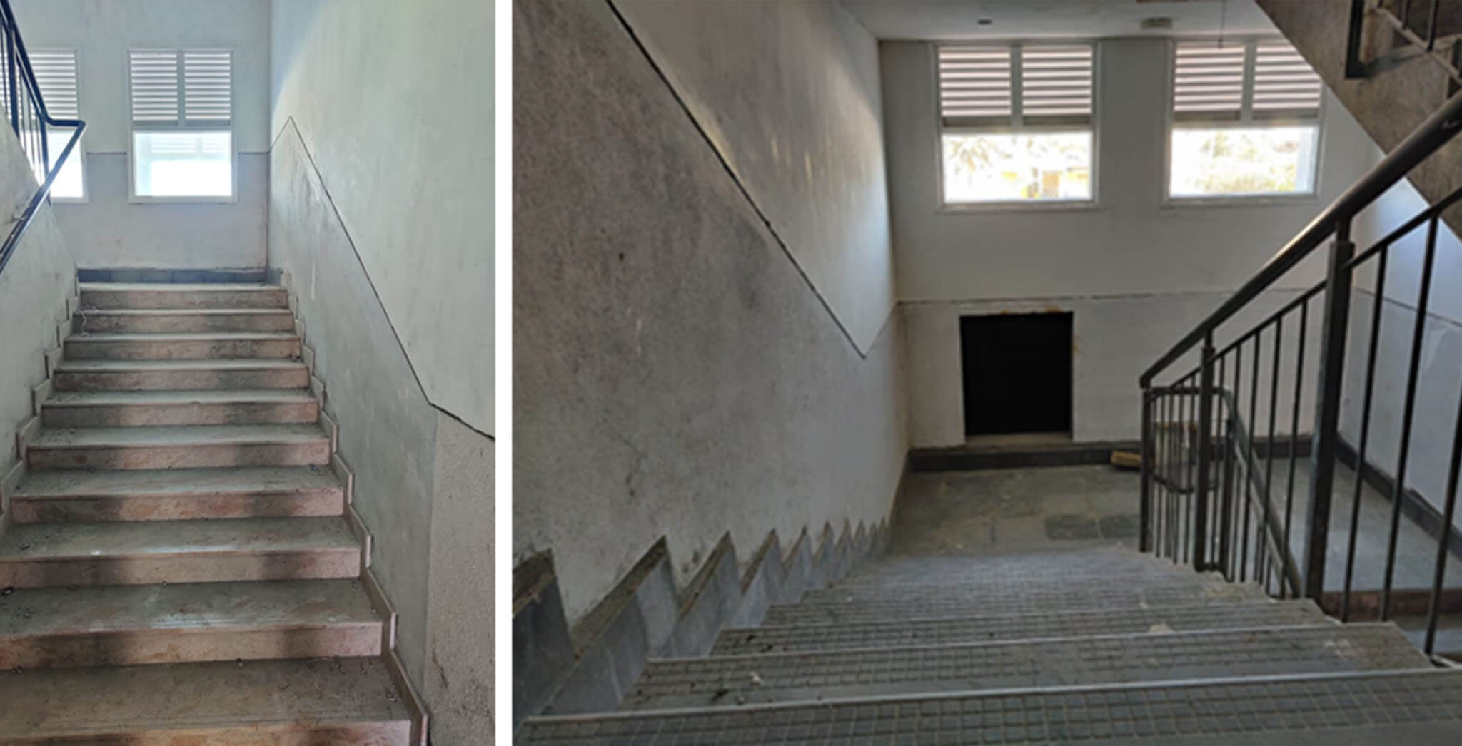May 2021 - Staircase area—painting work-in-progress