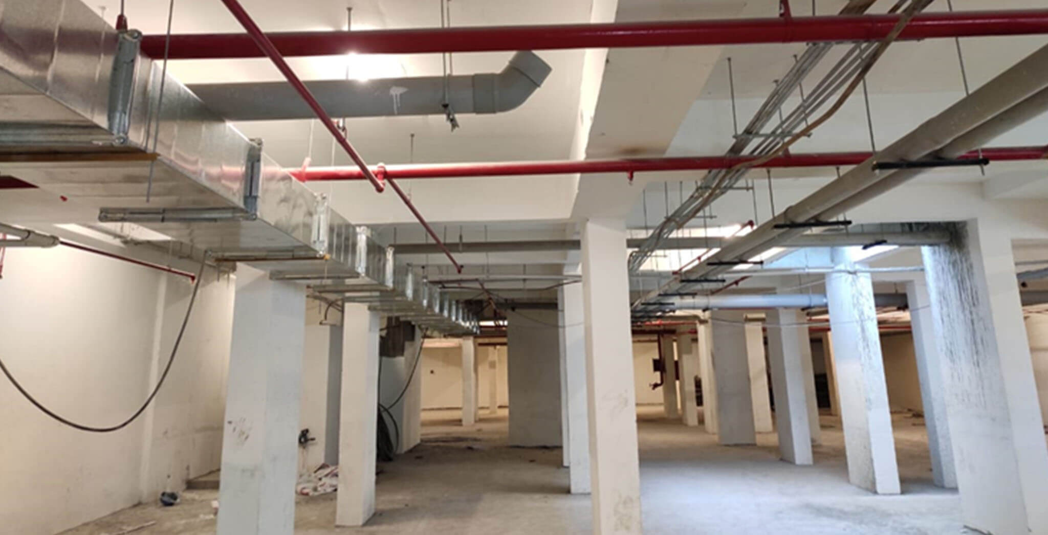 May 2021 - Basement VDF & MEP works completed