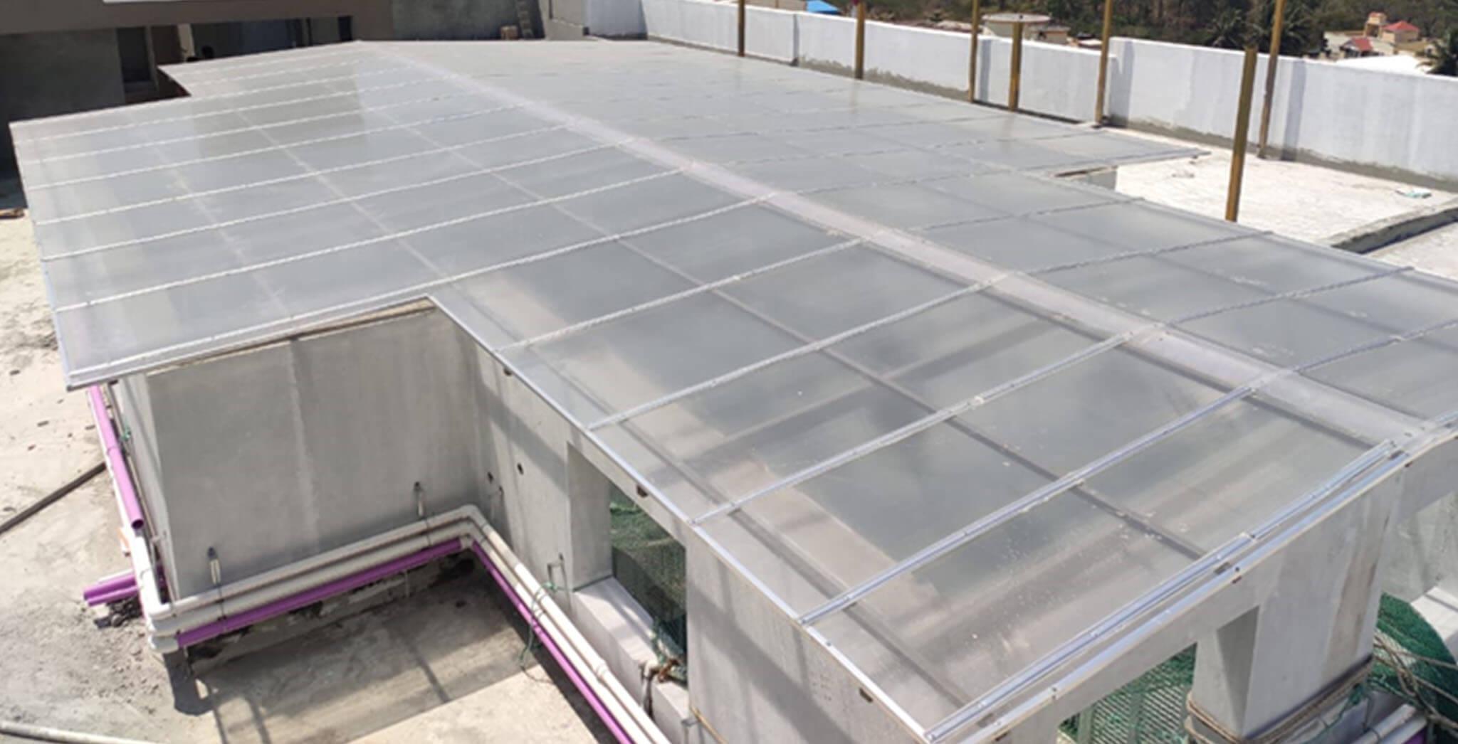 May 2021 - Terrace—MS works & skylight in progress