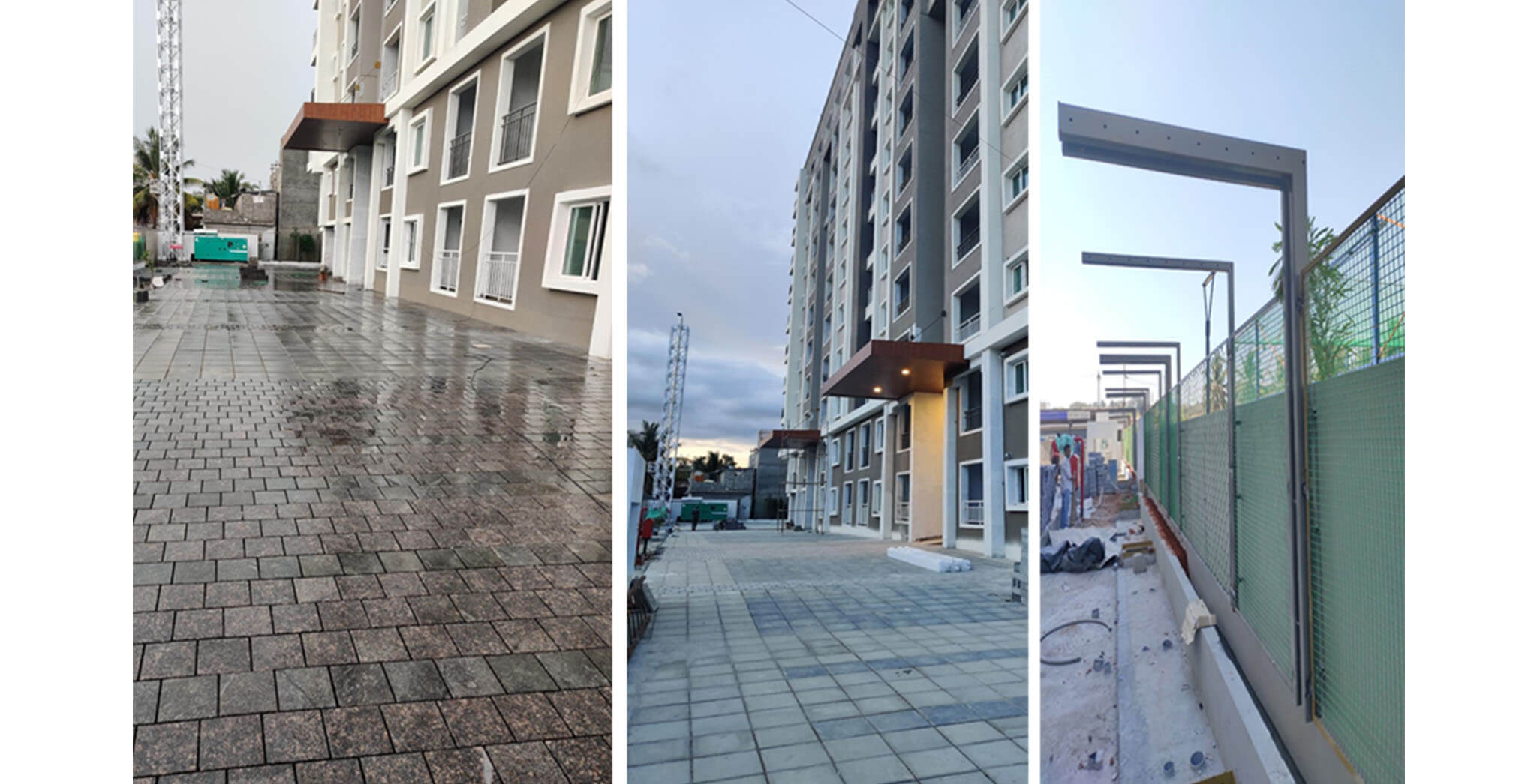 May 2021 - External development—pavers fixing along west side & embossing work