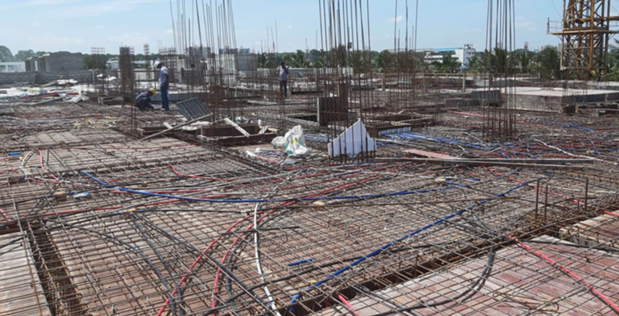 May 2021 - Towers C, U, and V: Terrace floor slab completed