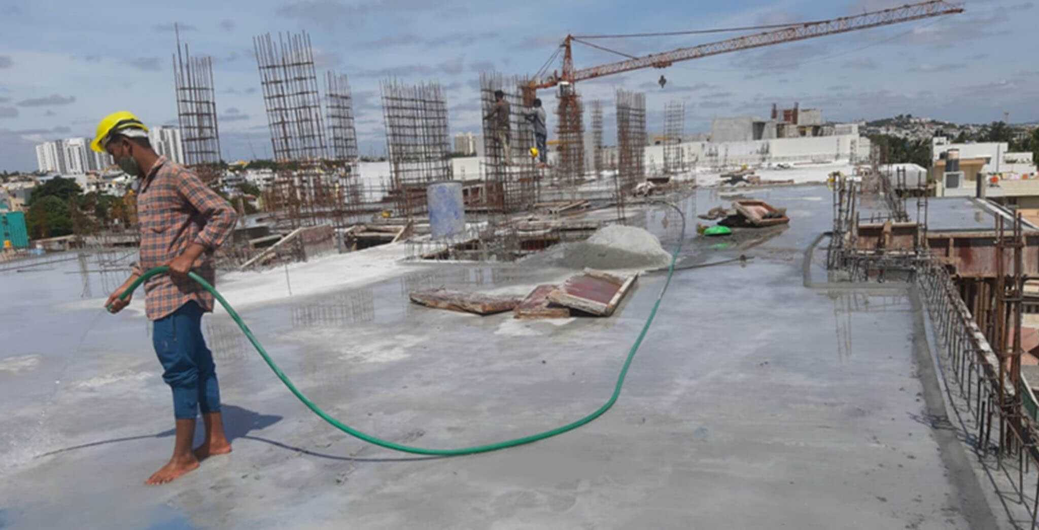 May 2021 - Towers F, S, and T: Terrace slab work completed