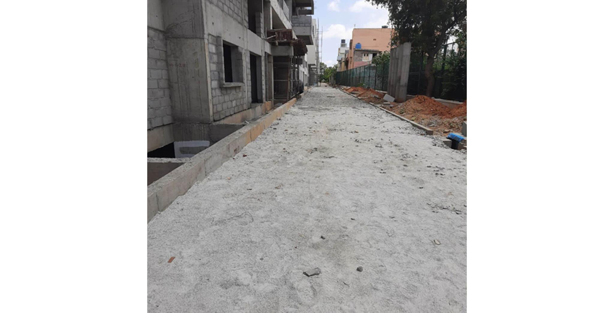 May 2021 - North side driveway works (GSB) under progress