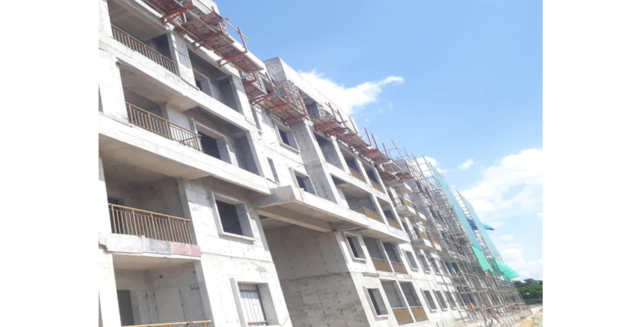 May 2021 - F Block: Above terrace works completed
