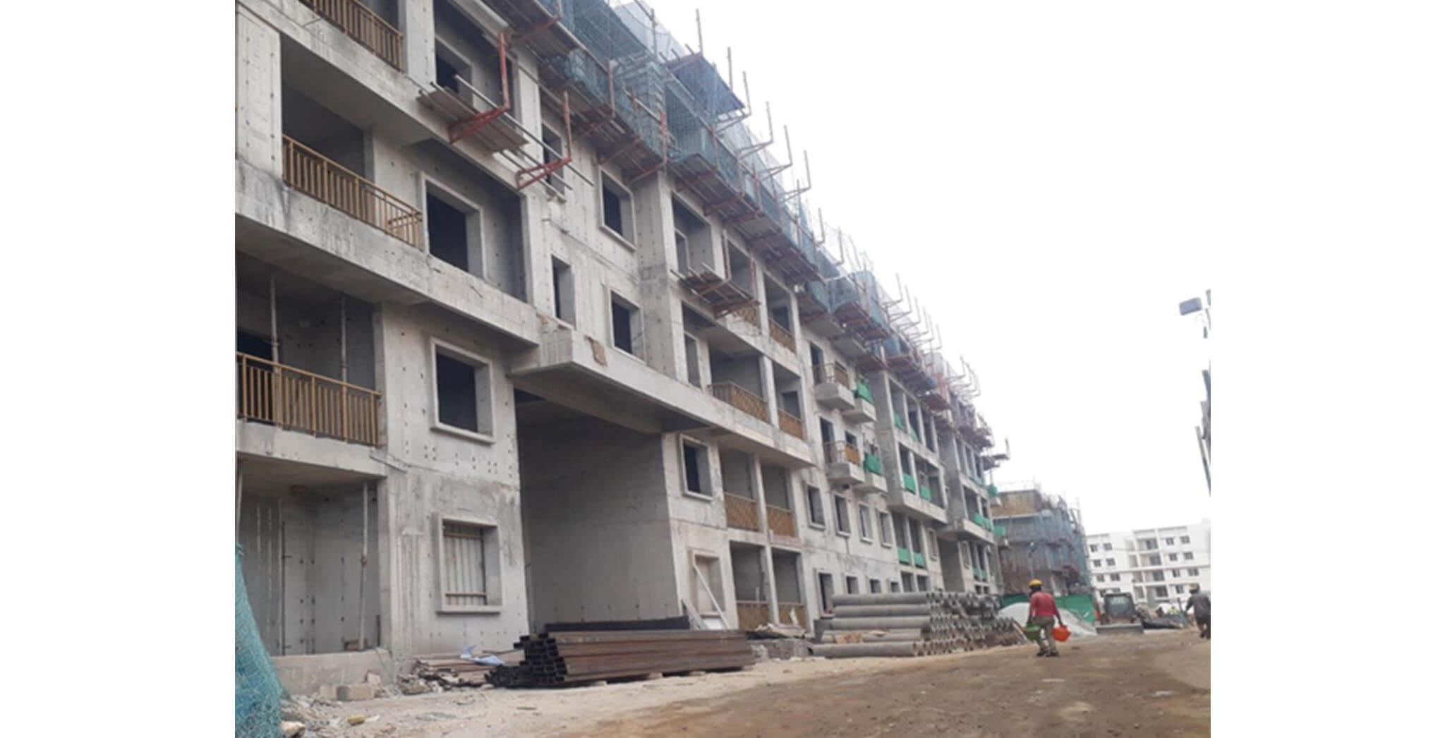 May 2021 - L Block: Above terrace work-in-progress