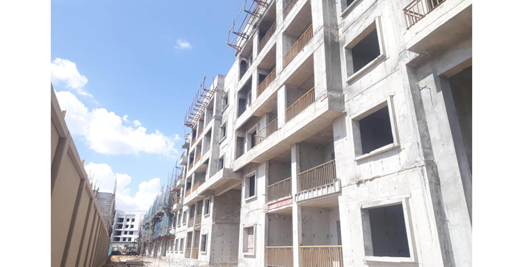 May 2021 - E Block: Above terrace work completed