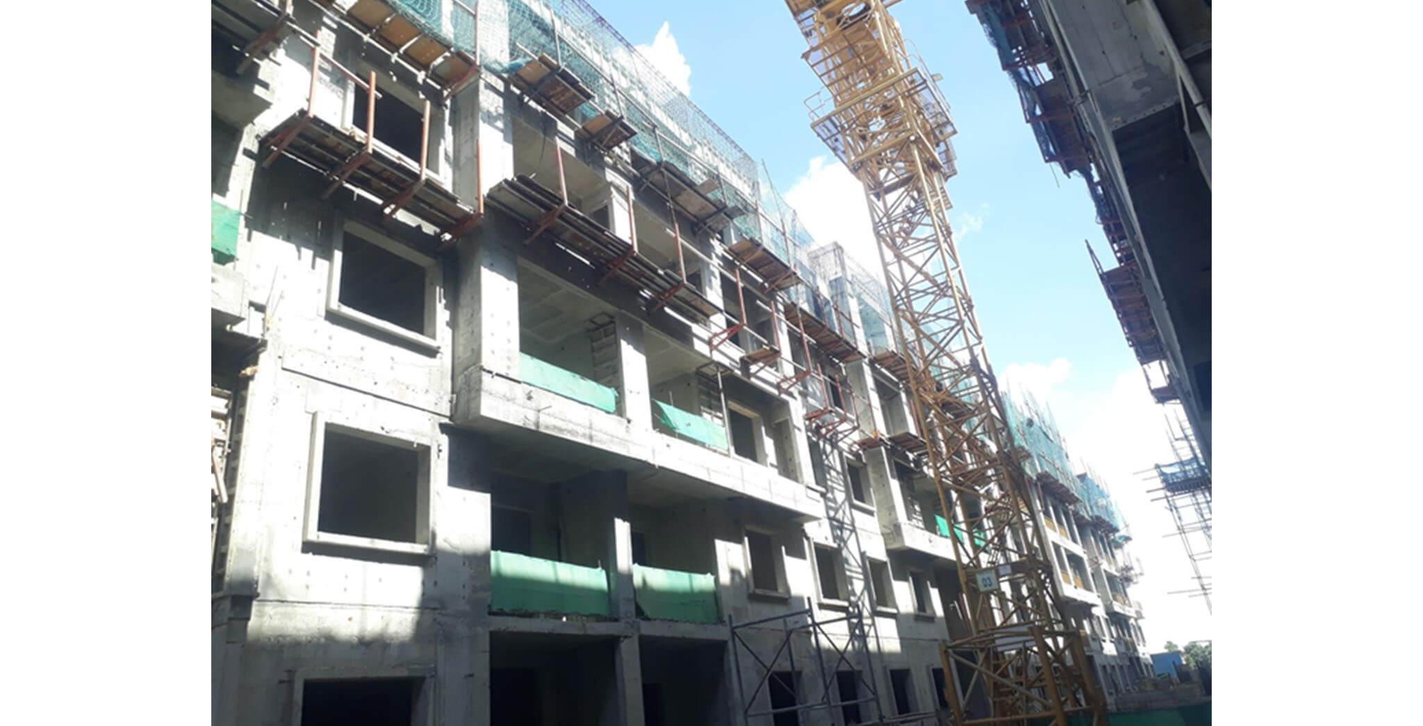 May 2021 - K Block: Above terrace work-in-progress