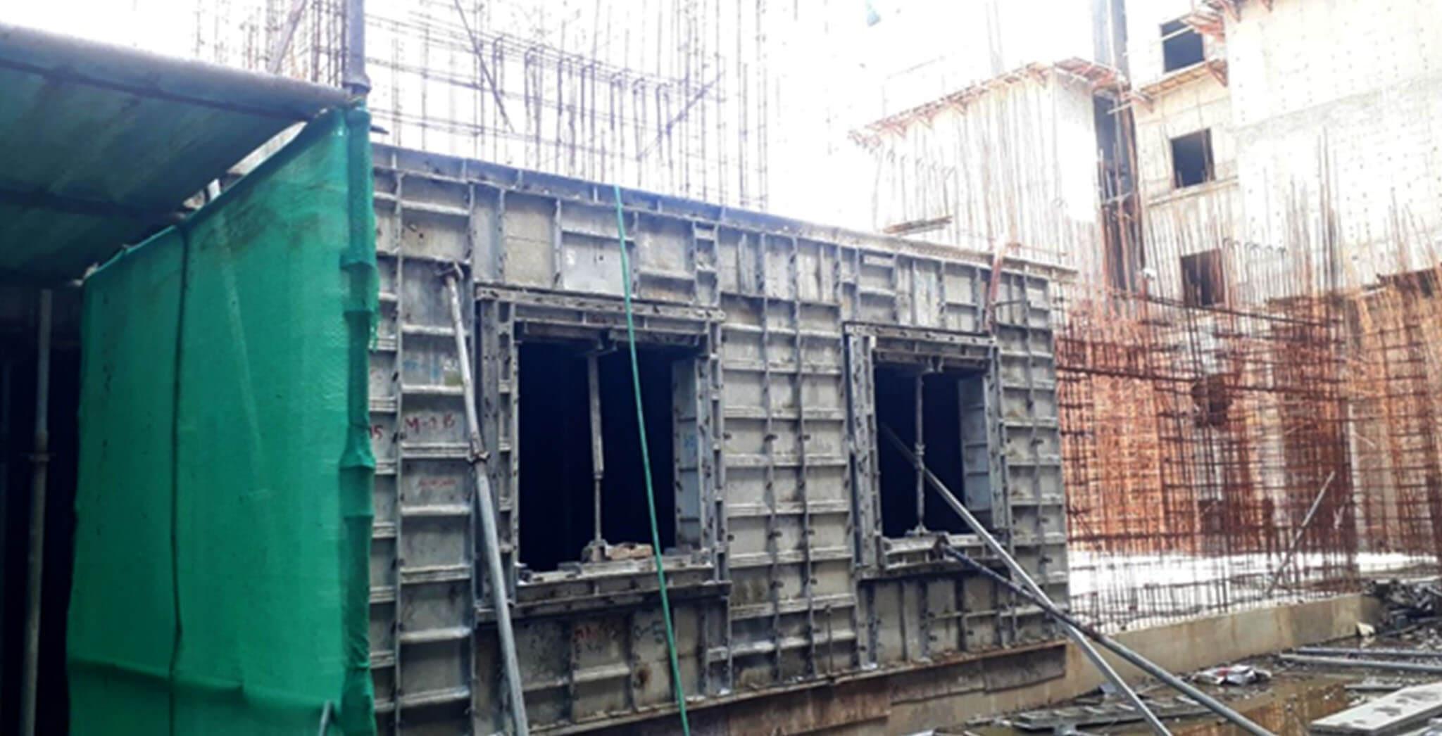 May 2021 - J Block: First floor slab work-in-progress