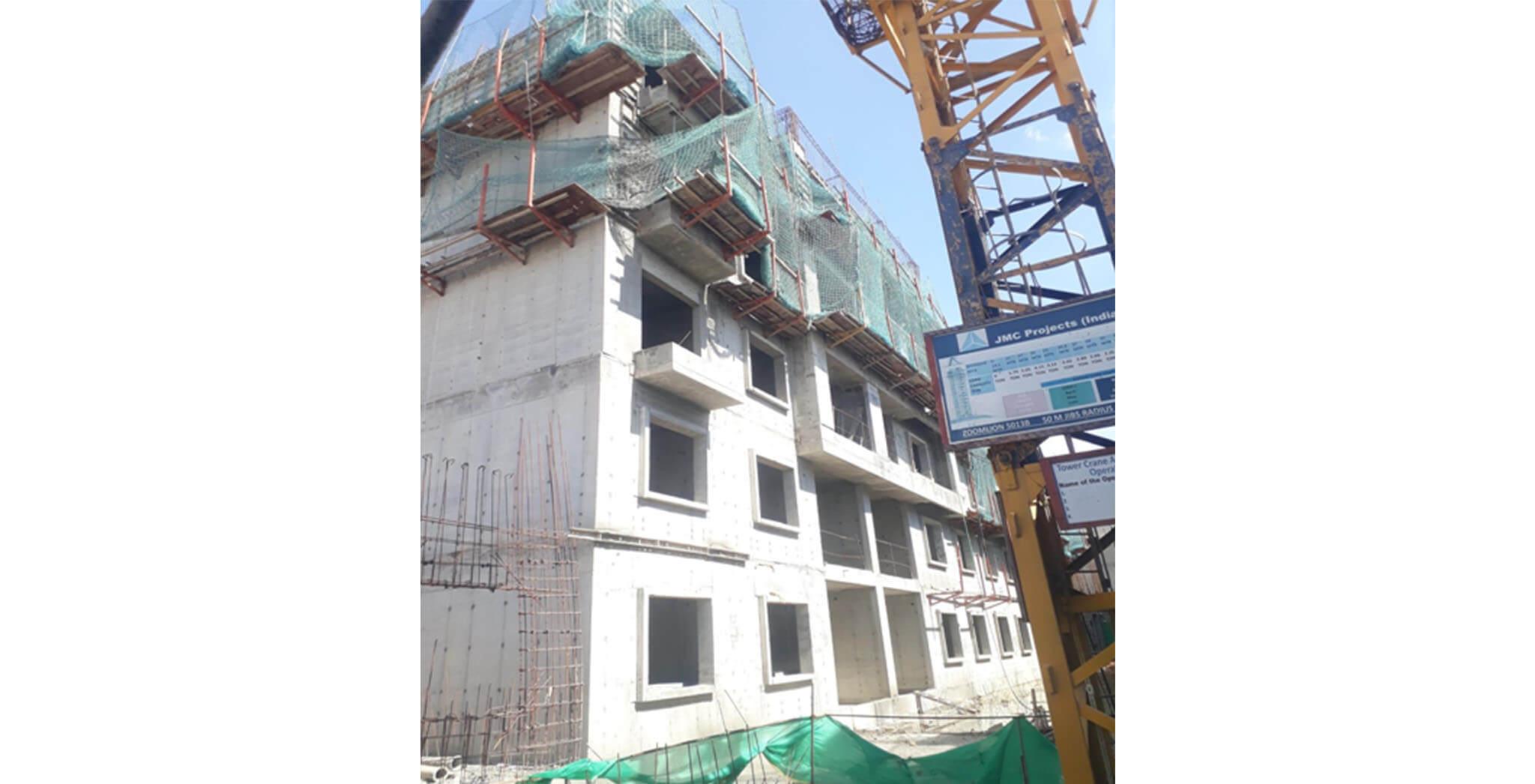 May 2021 - I Block: Terrace floor slab completed