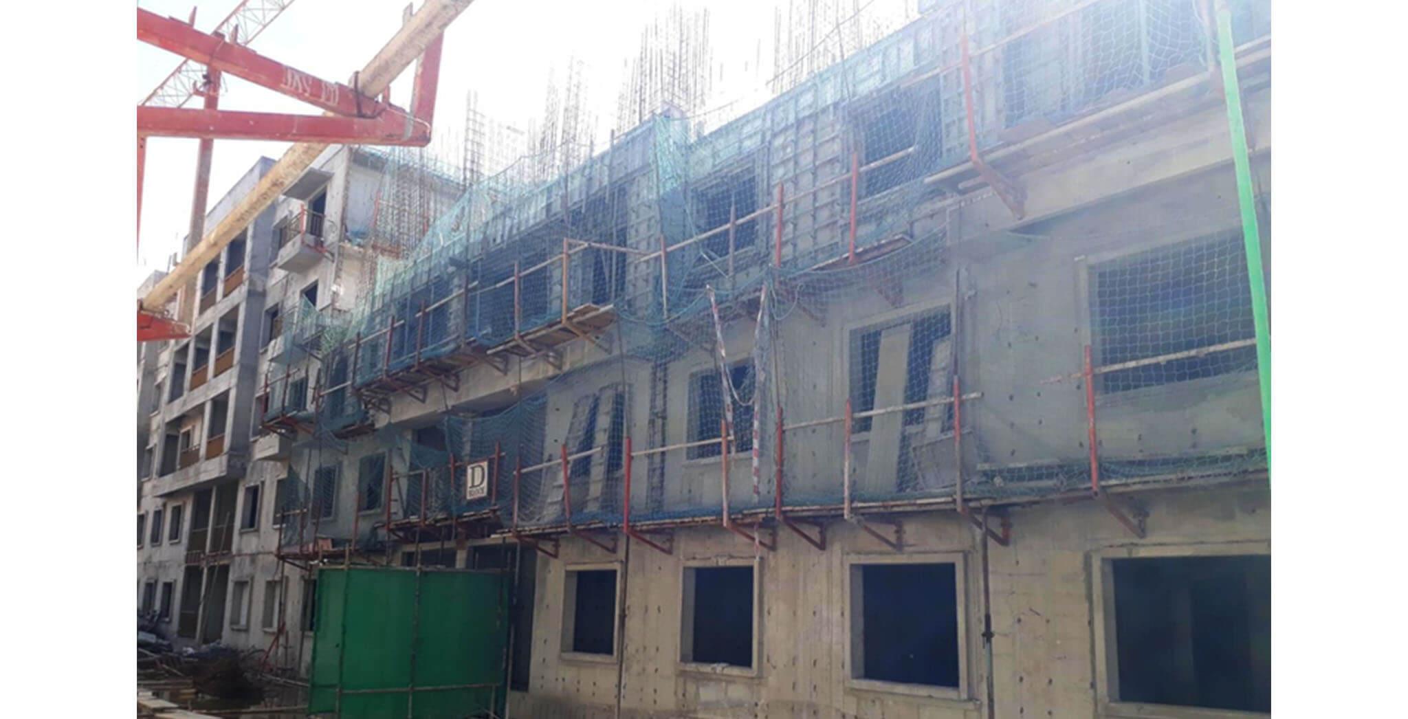 May 2021 - D Block: Fourth floor slab work-in-progress