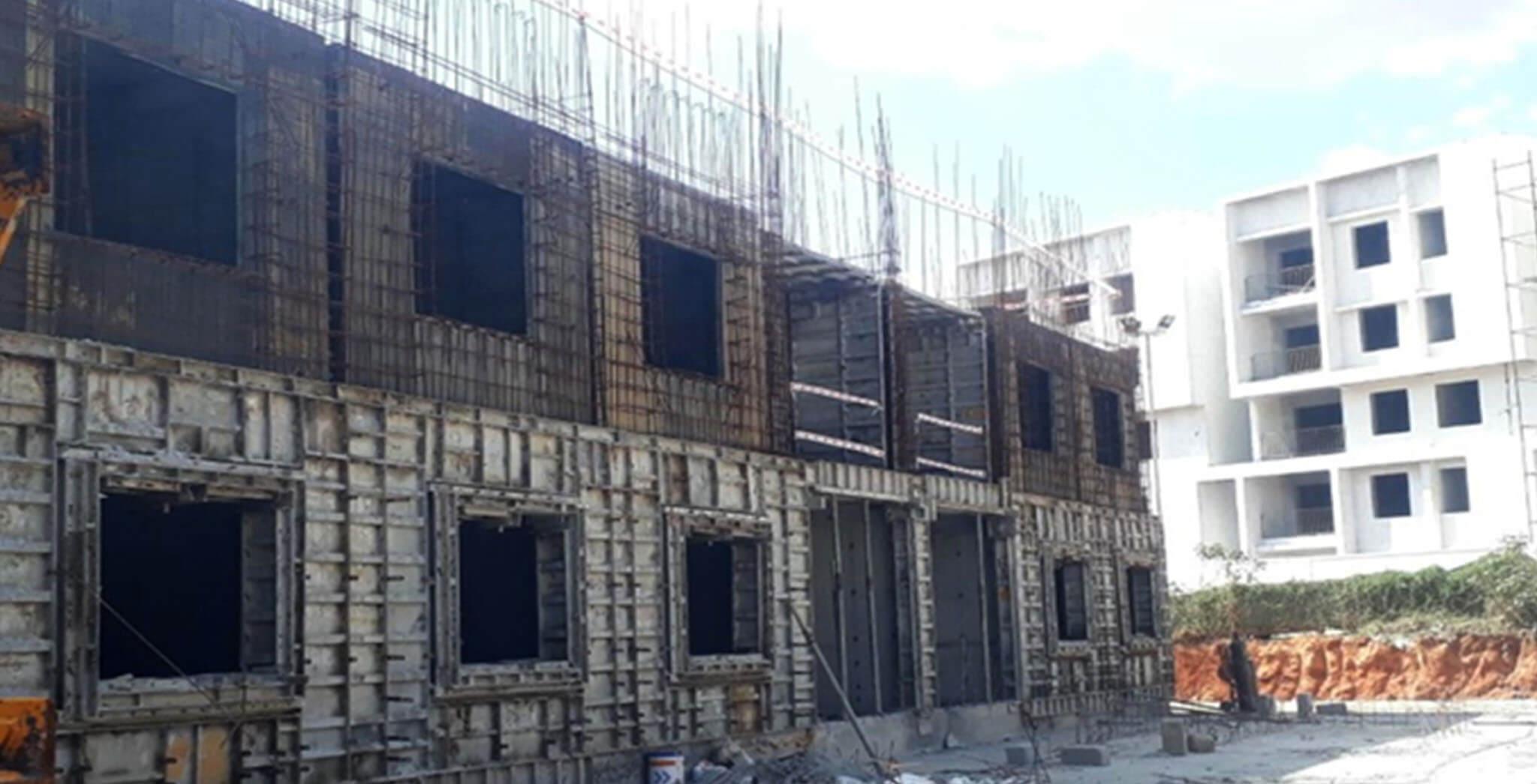 May 2021 - C Block: Second floor slab work-in-progress