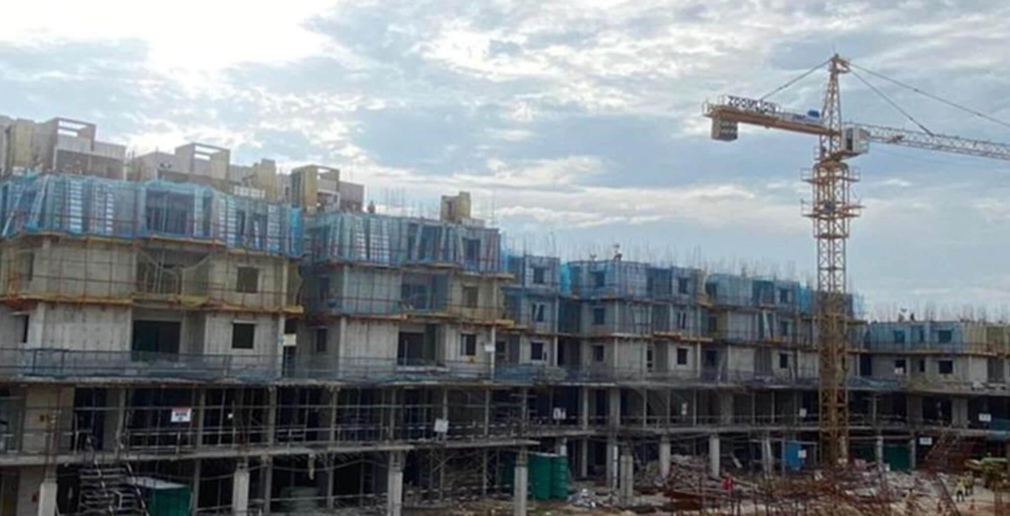 Jun 2021 - Block A1: Ground floor—100% ,1st floor—75%, 2nd floor—25% completed