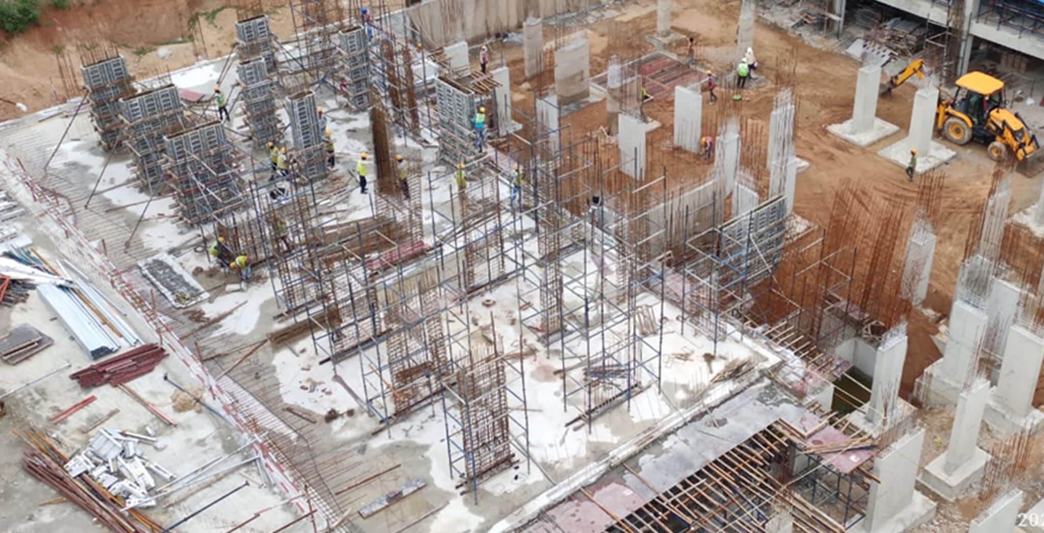 Jun 2021 - Block A2: 15% basement-1 slab, 70% Footings & 45% columns completed