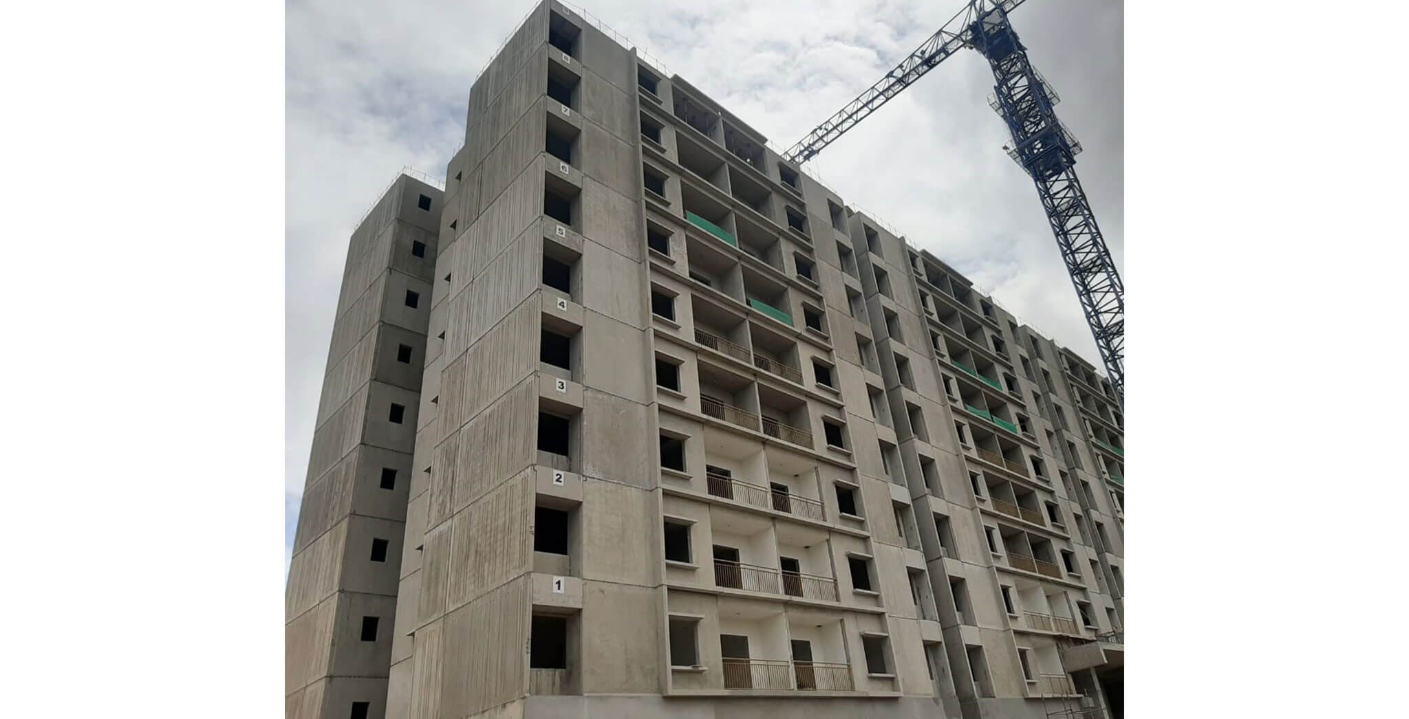 Jun 2021 - A-wing: On commencement of ninth floor slab