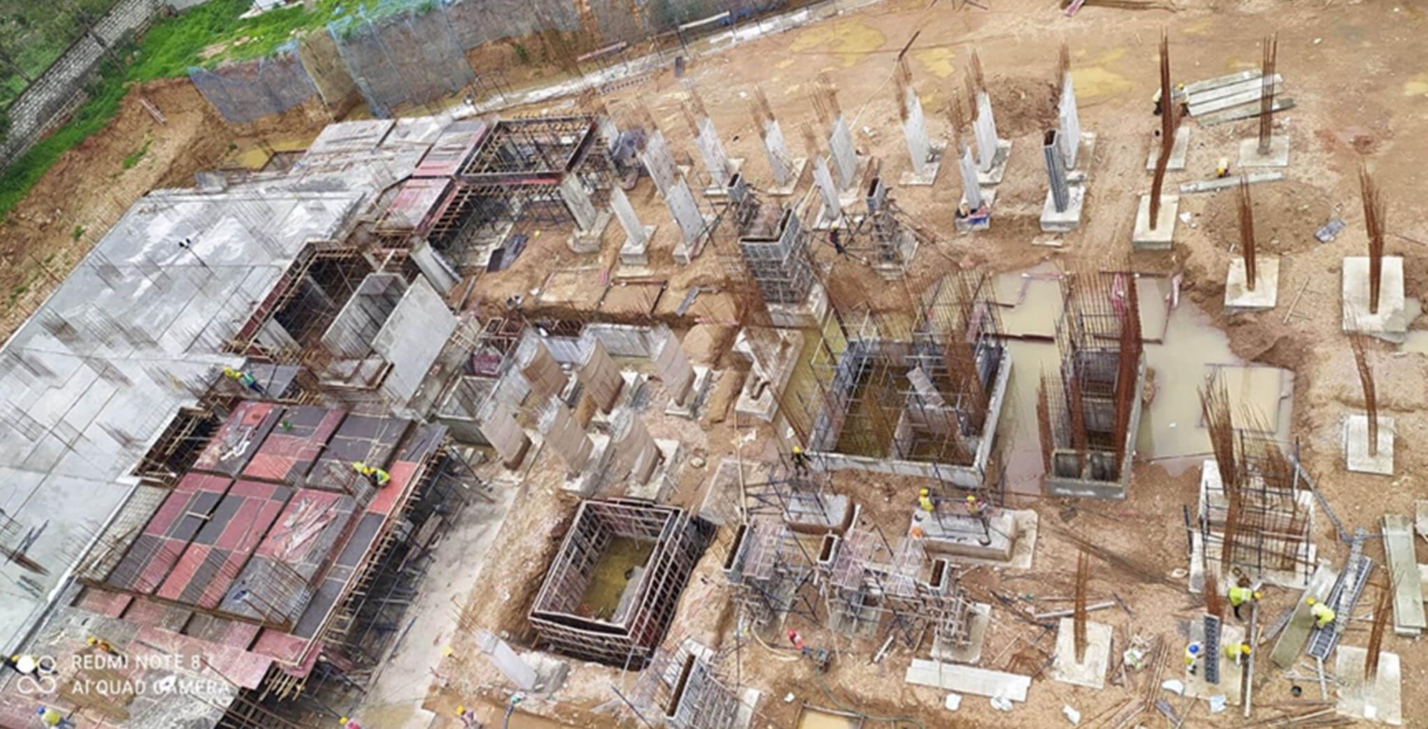 Jun 2021 - Block C: Lower basement slab 20% concrete works completed
