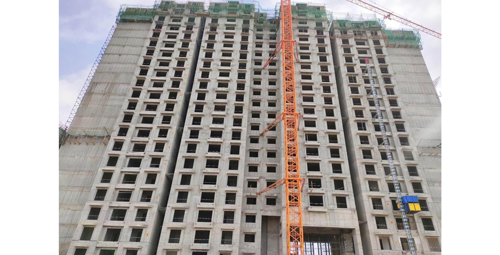 Jun 2021 - Gallium Block: South side elevation—GF to 20th floor