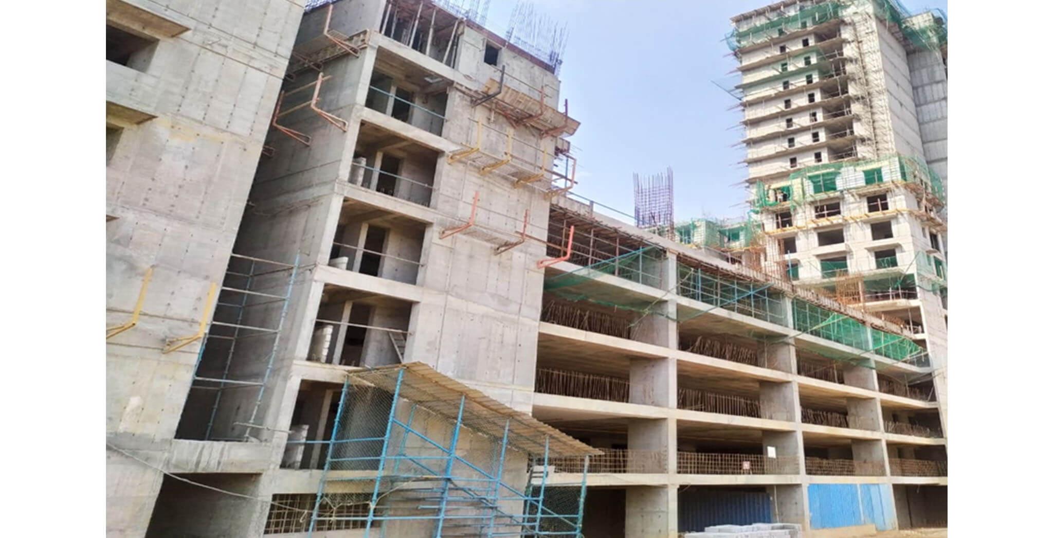 Jun 2021 - Gallium Block: MLCP 01-towards H—4th floor slab work-in-progress