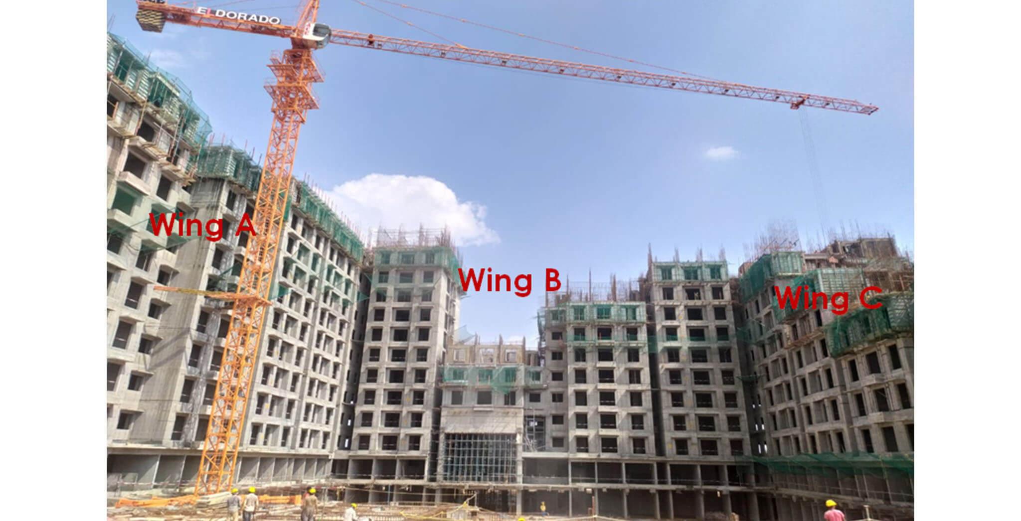 Jun 2021 - Helio Block: North elevation—overall progress