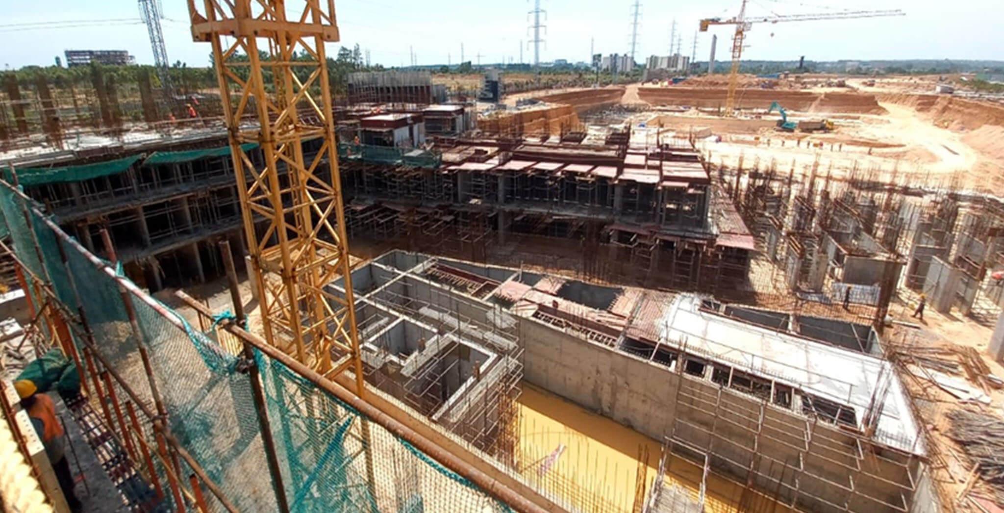 Jun 2021 - Jasper Block: Wing B—Upper basement roof slab work-in-progress
