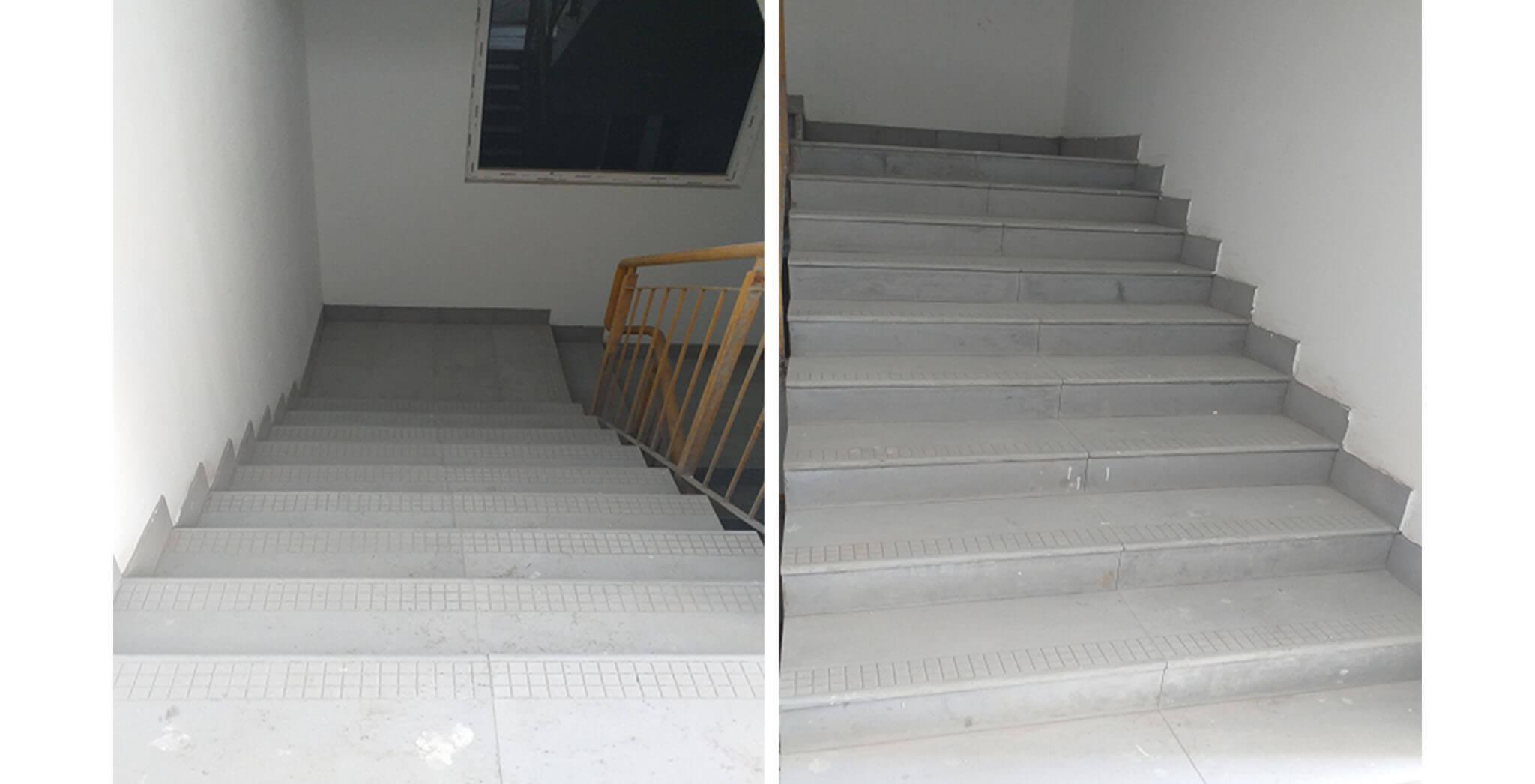 Jun 2021 - Blocks K, L & M: Staircase flooring work-in-progress