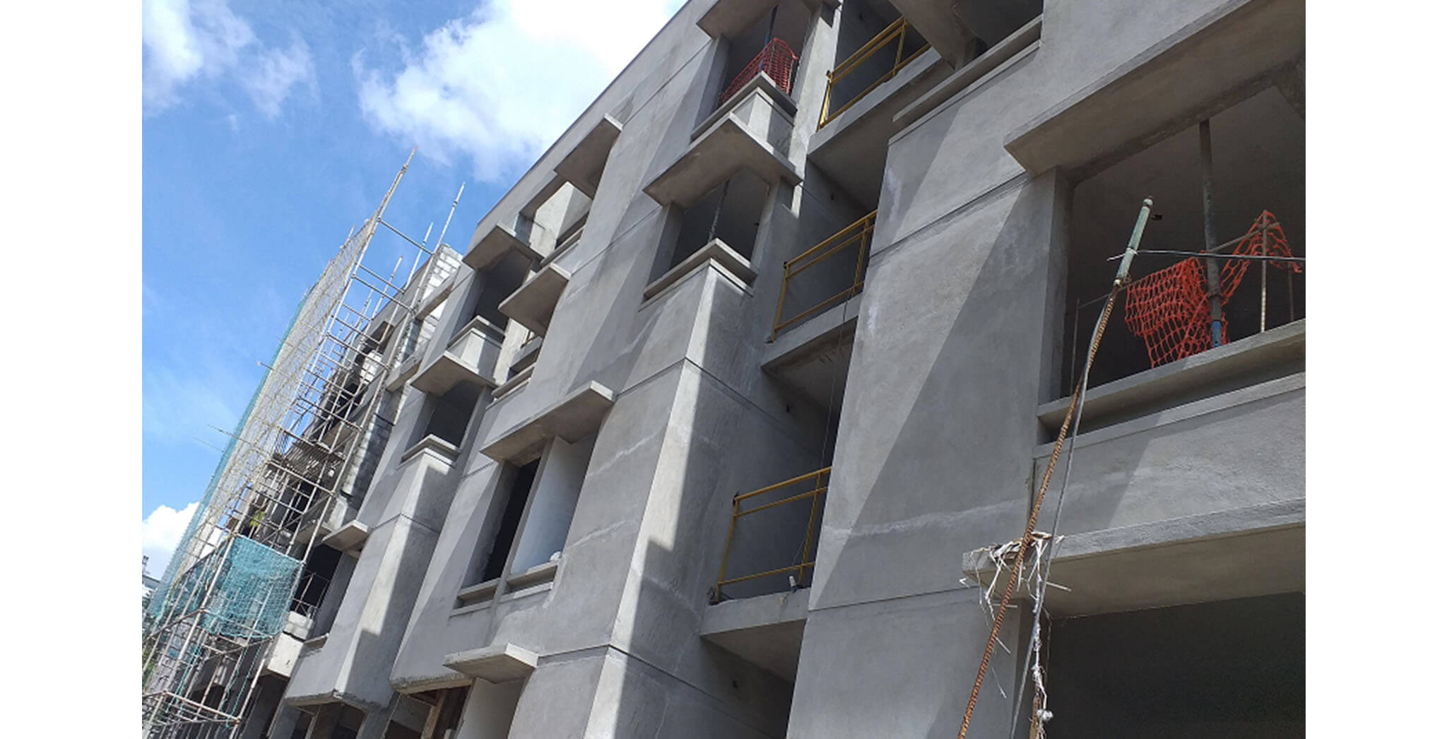 Jun 2021 - Block A: Northside external plastering works completed