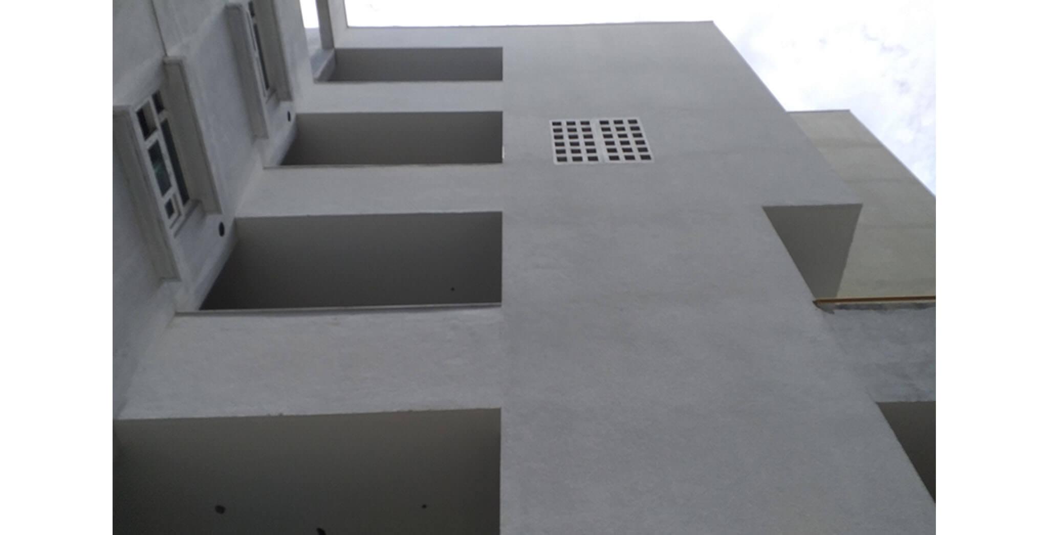 Jun 2021 - Podium side wall block E: External texture painting work-in-progress at Southside wall