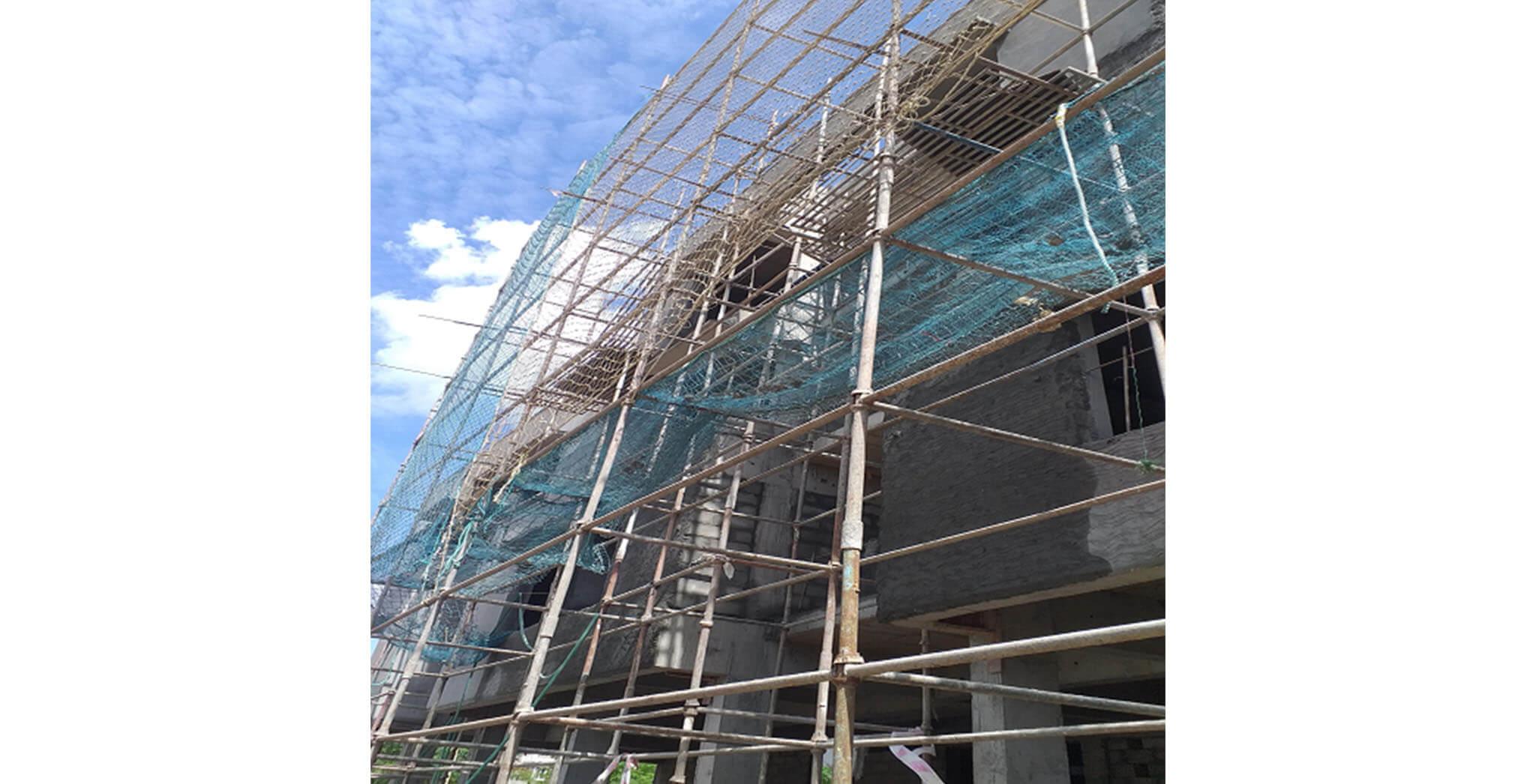 Jun 2021 - North side view: Block B—Northside external plastering work-in-progress