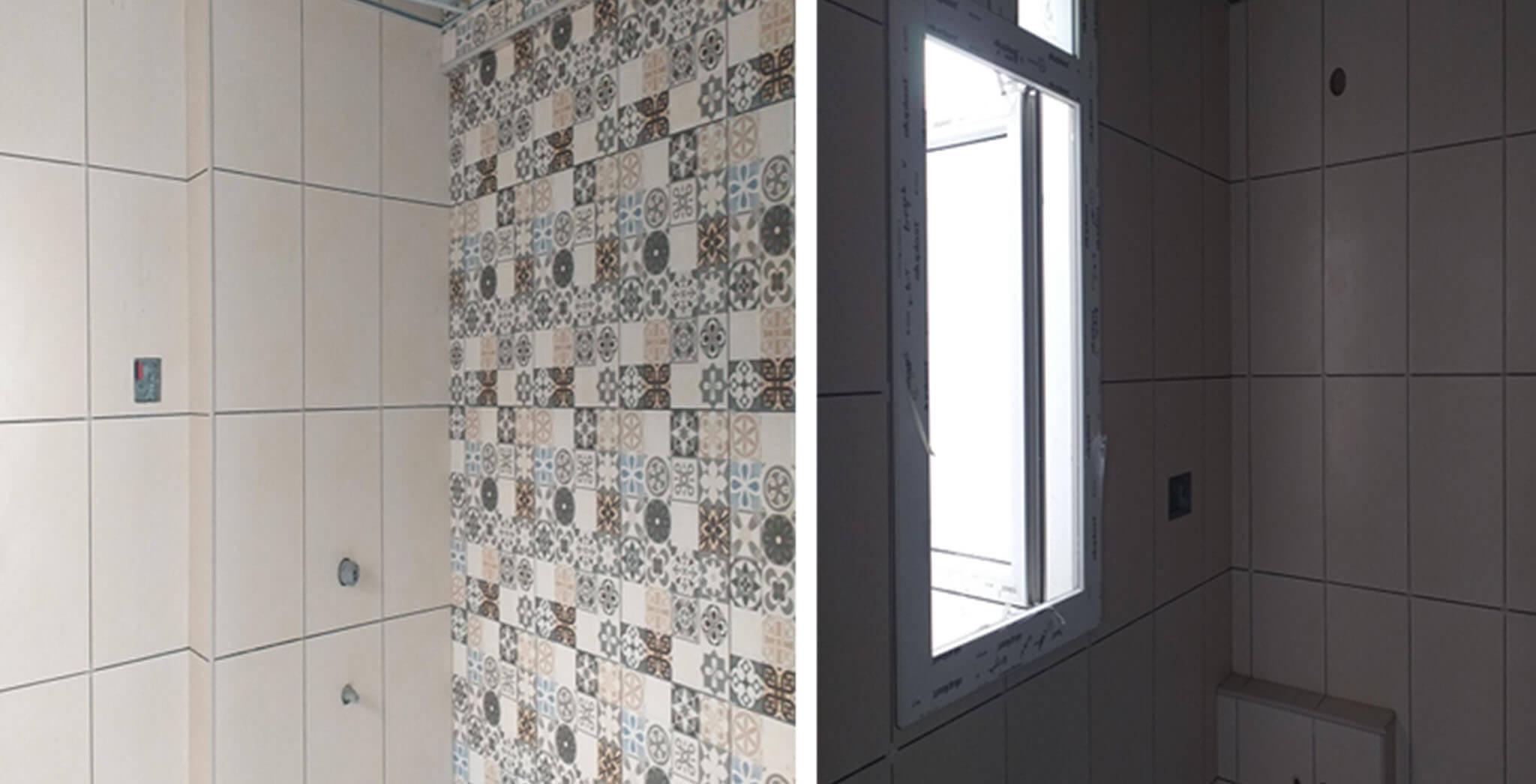 Jun 2021 - Block G: Toilet dado work-in-progress
