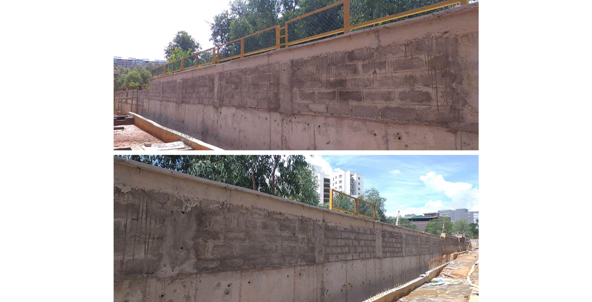 Jun 2021 - North side compound wall