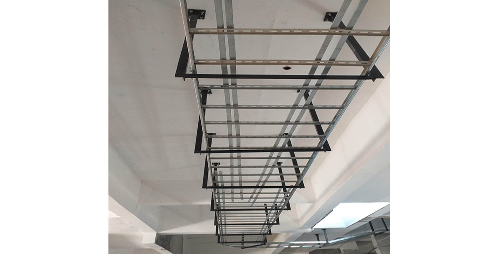 Jun 2021 - Blocks J, K, L, M, N, P, Q, R, S, A, E, F, G & H: Basement electrical cable tray in progress