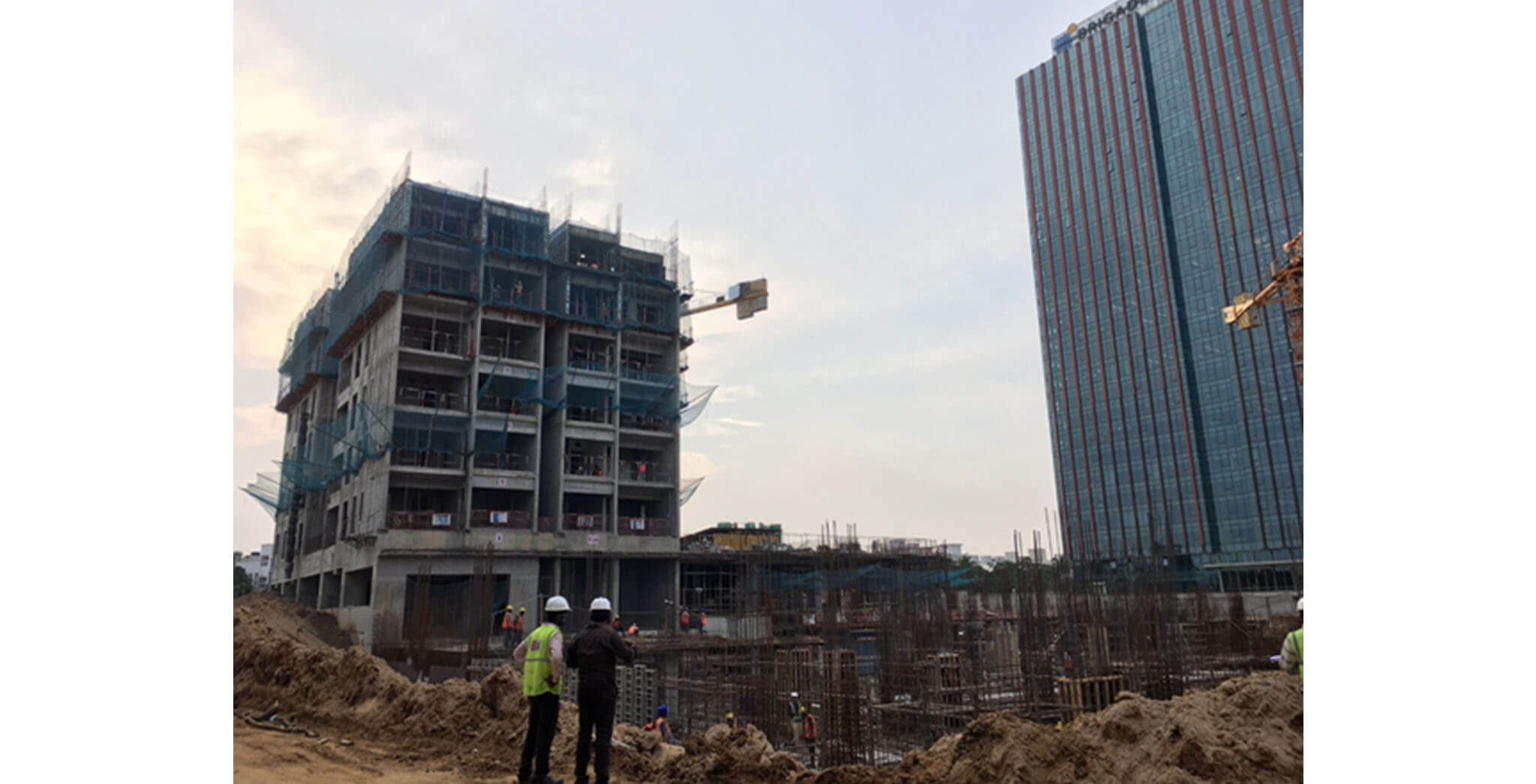Jun 2021 - Tower A1: Seventh floor level above slab work is in progress