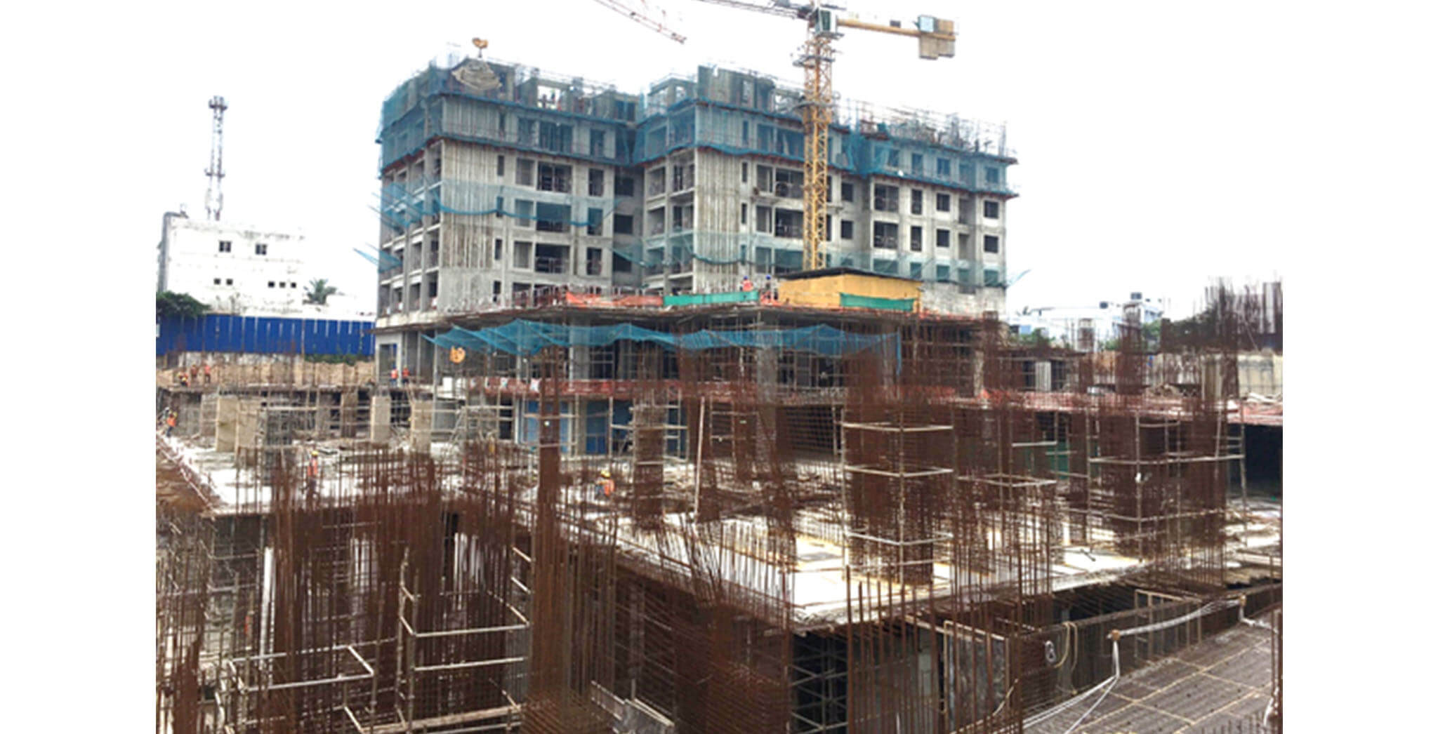 Jun 2021 - Tower A2: Basement 1 and raft work is in progress